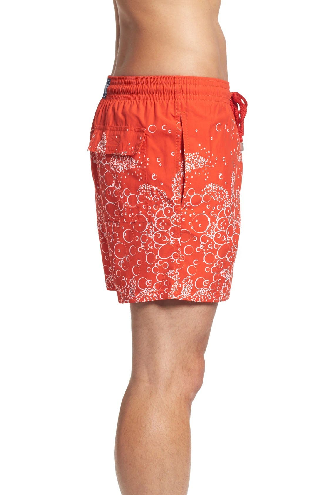Bubble Turtle Print Swim Trunks,                             Alternate thumbnail 3, color,                             612