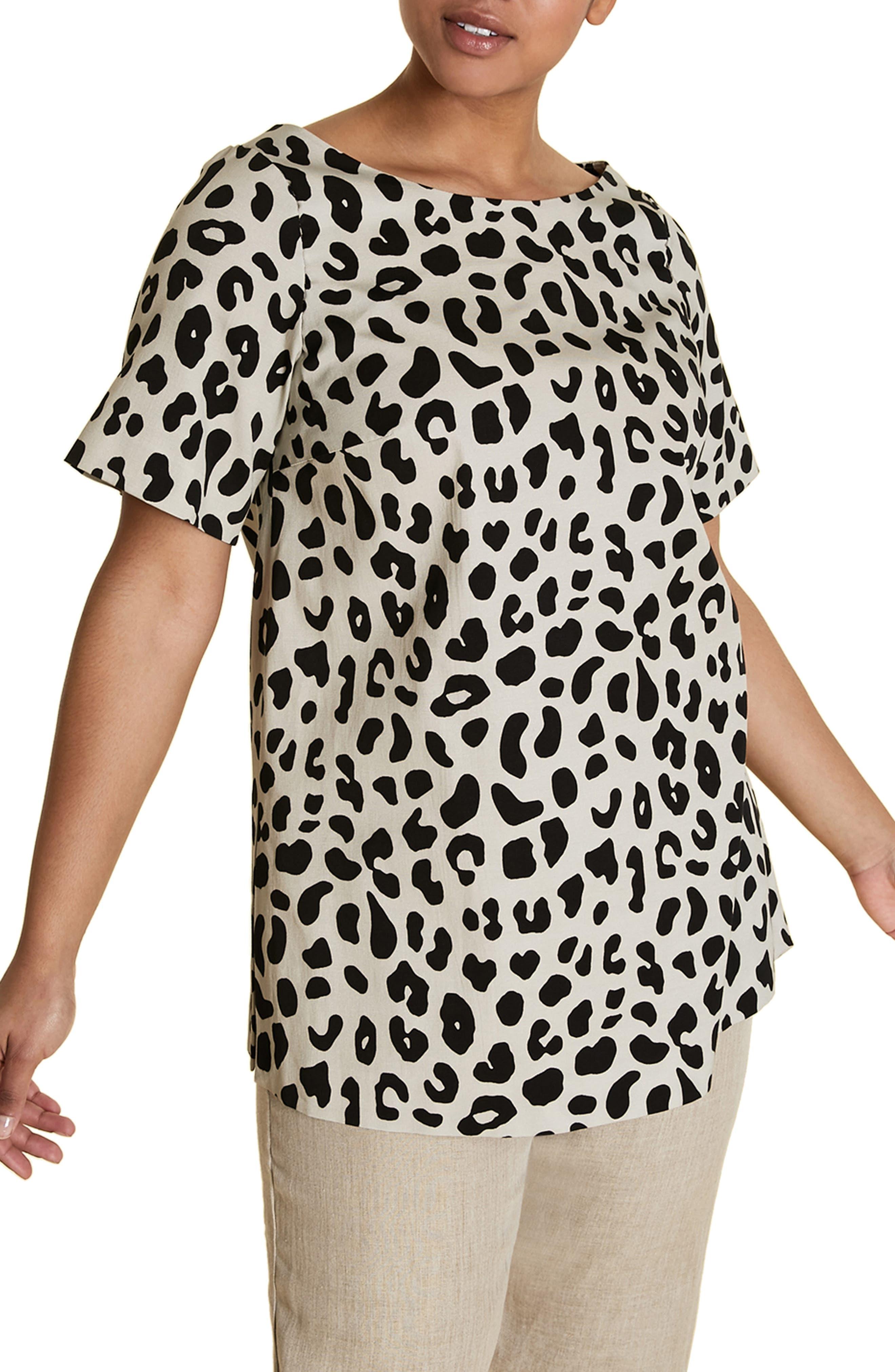 plus size women's marina rinaldi fregio tunic with attachable sleeves