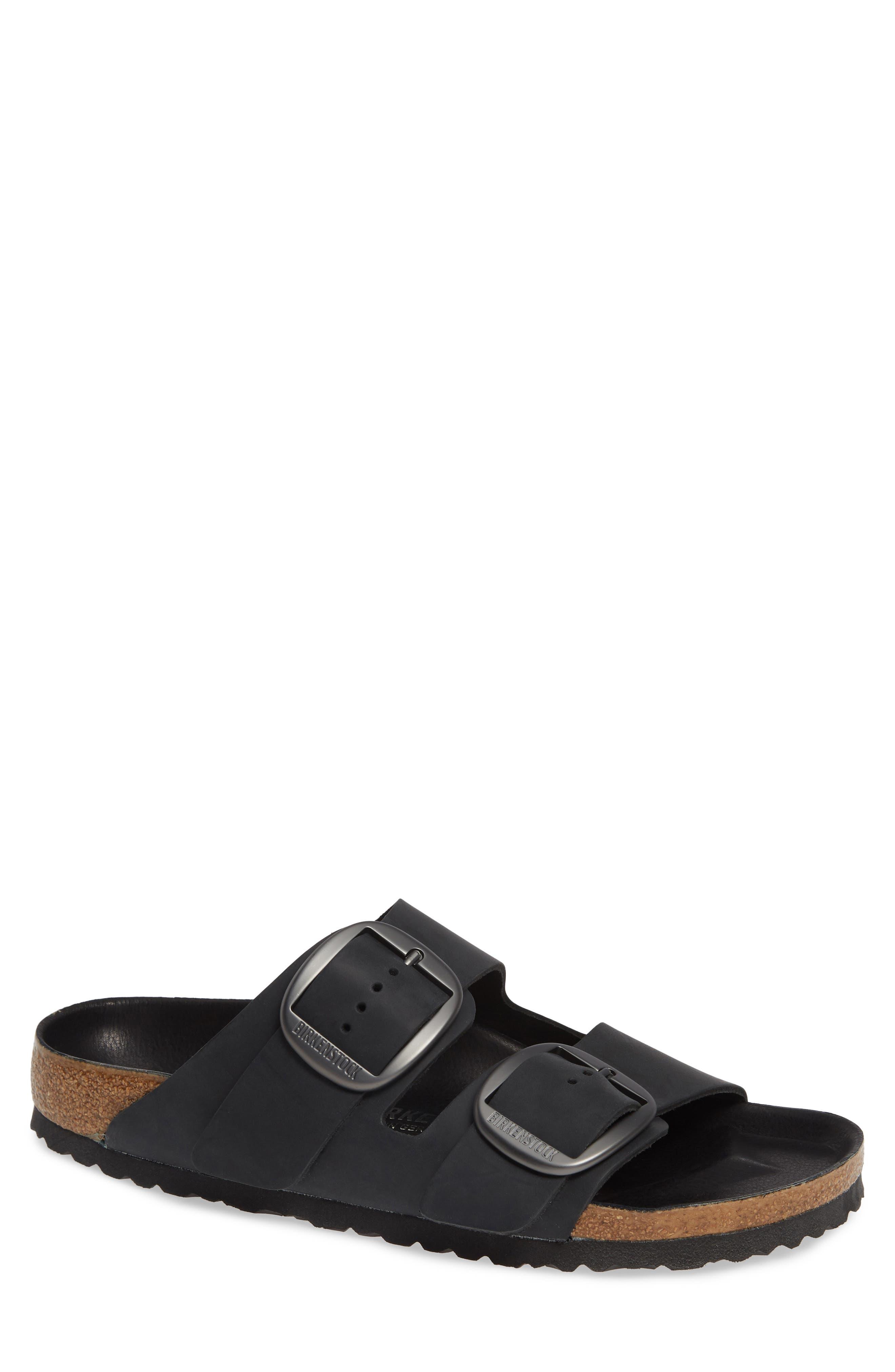 Birkenstock Arizona Big Buckle Slide Sandal,9.5 - Black