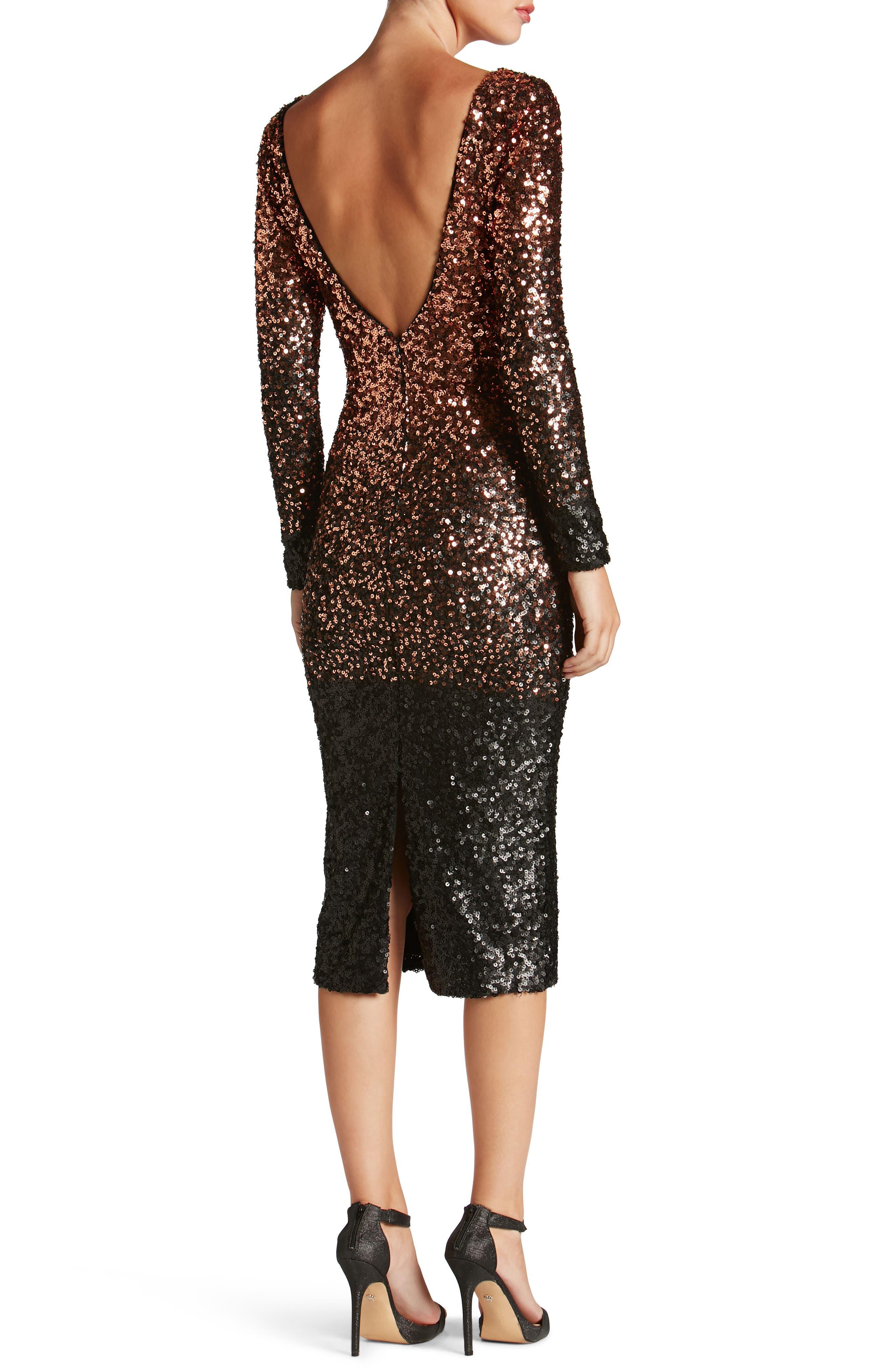 Emery Ombré Sequin Body-Con Dress,                             Alternate thumbnail 10, color,