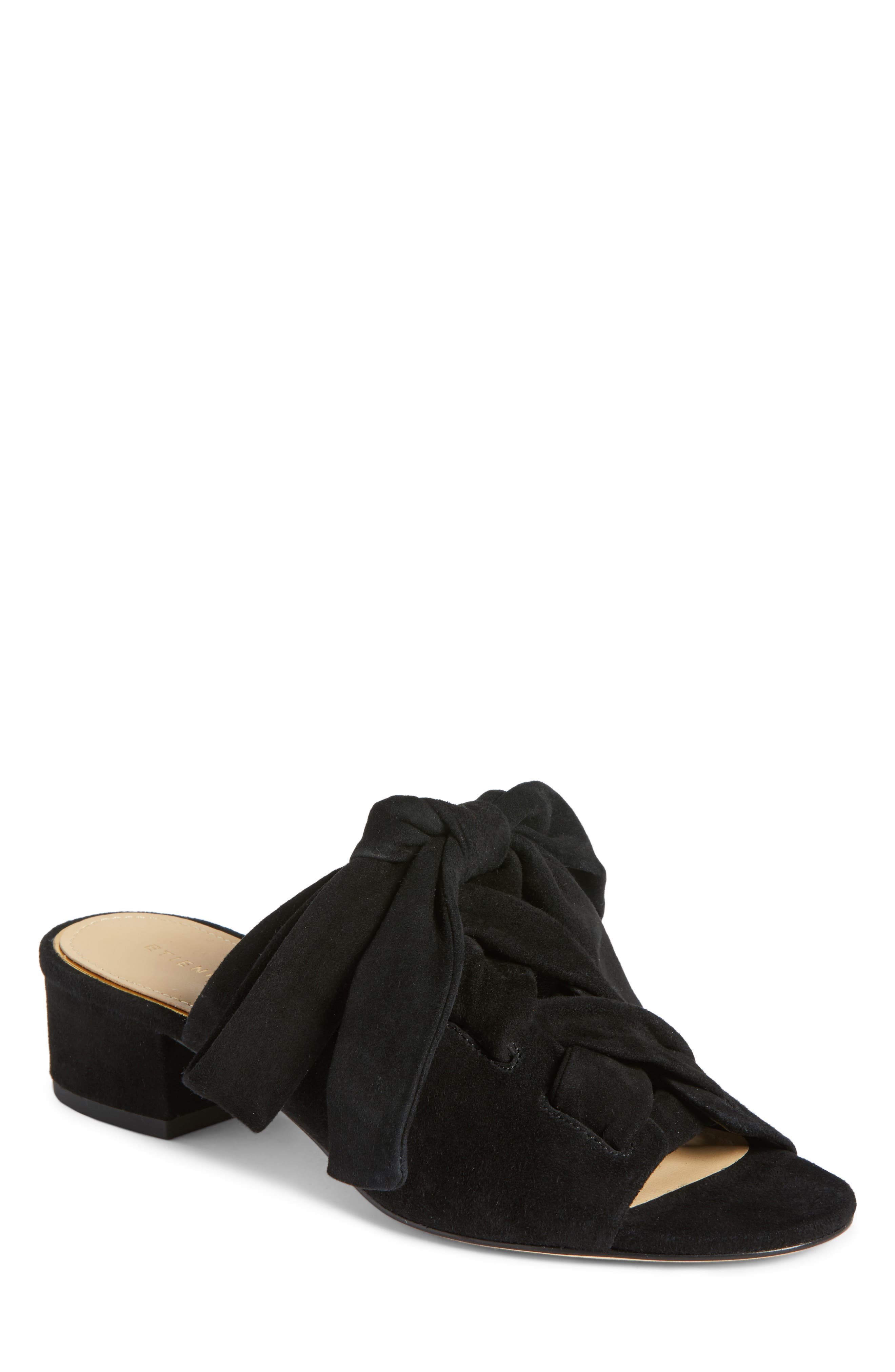 Bermuda Sandal,                         Main,                         color, BLACK SUEDE