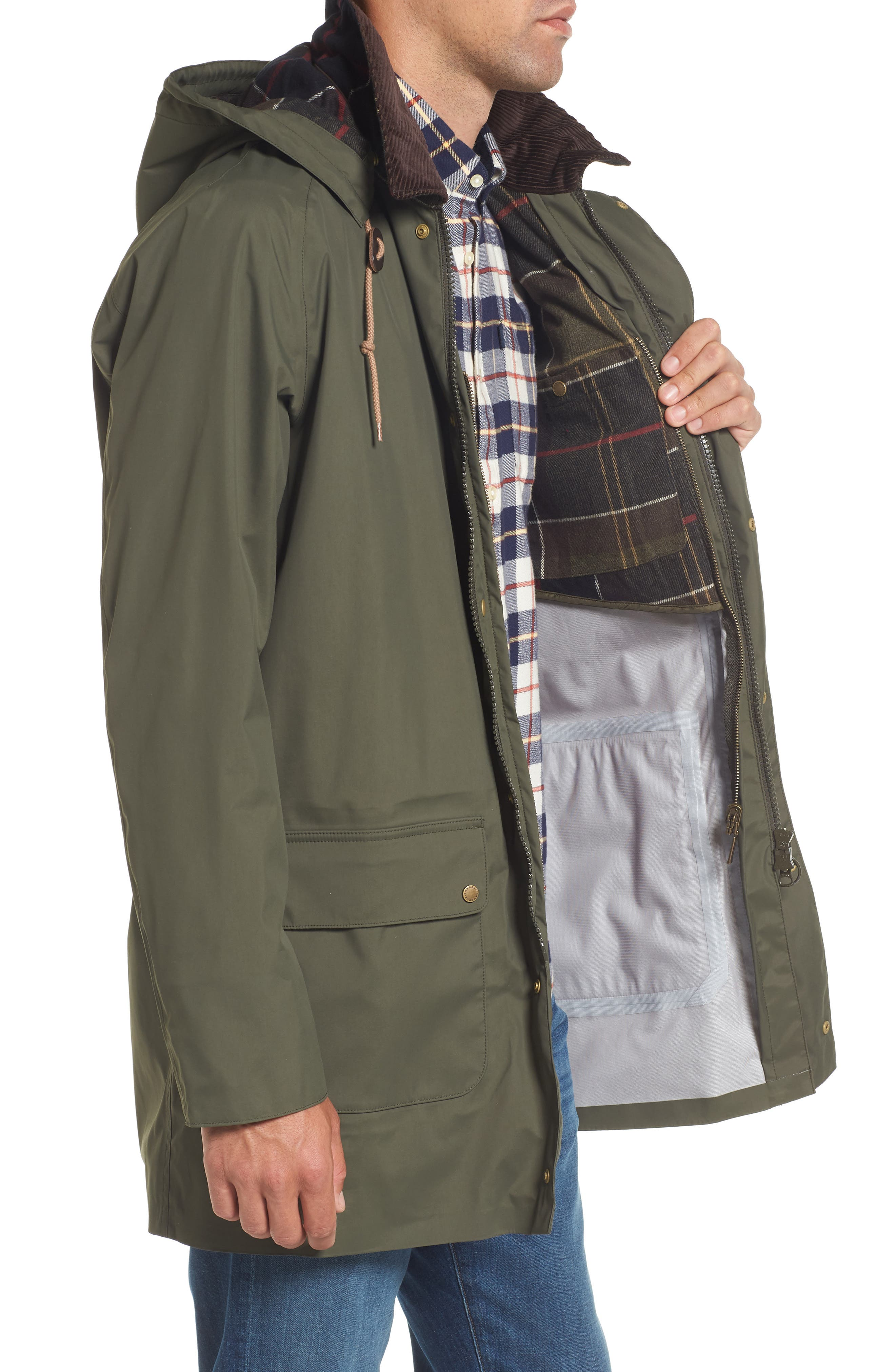 Scarisbrick Waterproof Jacket,                             Alternate thumbnail 3, color,                             340