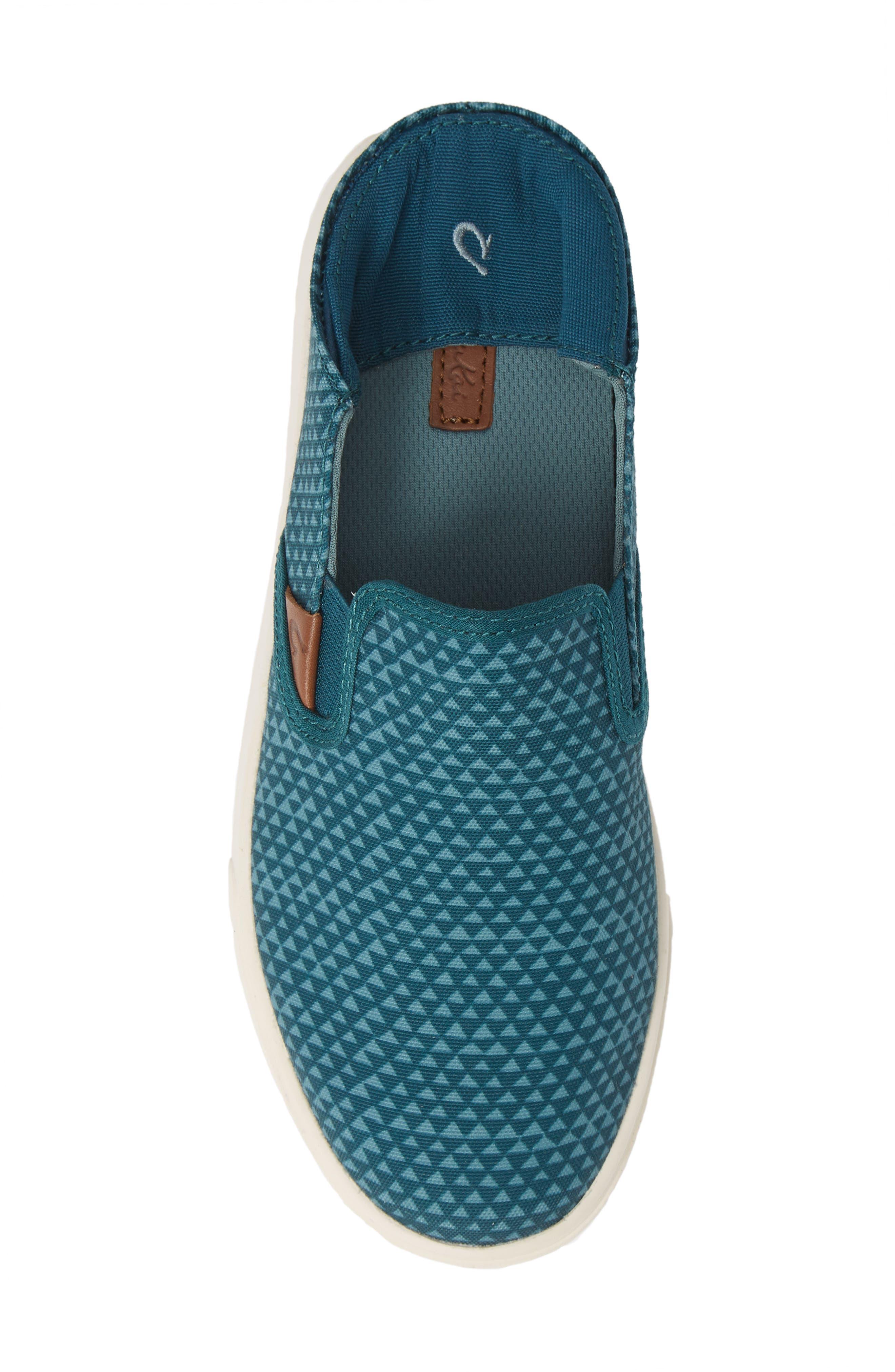 Pehuea Pa'i Convertible Sneaker,                             Alternate thumbnail 6, color,                             DEEP TEAL/ TRIANGLE FABRIC