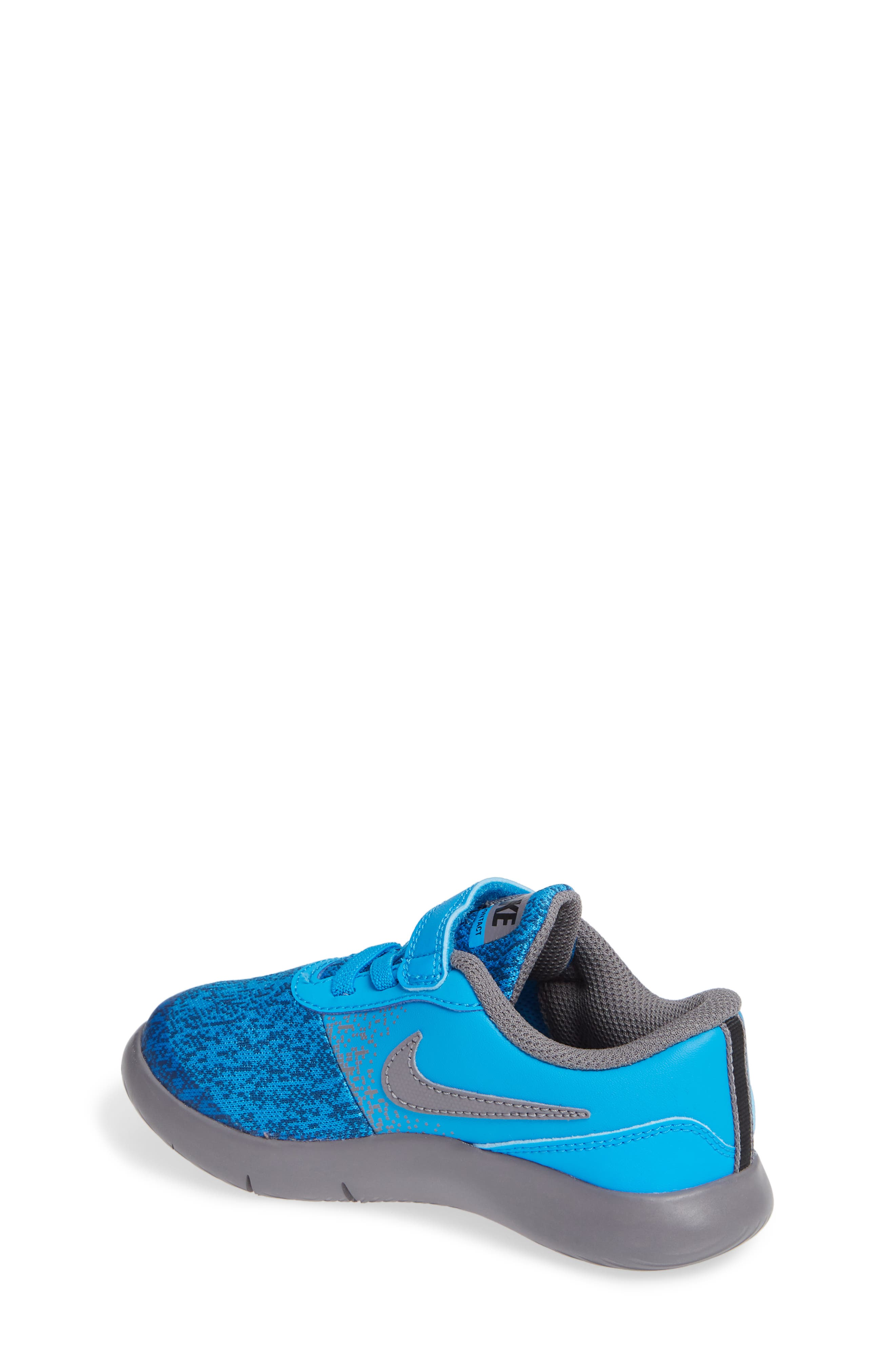 Flex Contact Running Shoe,                             Alternate thumbnail 2, color,                             BLUE HERO/ GUNSMOKE/ GREEN