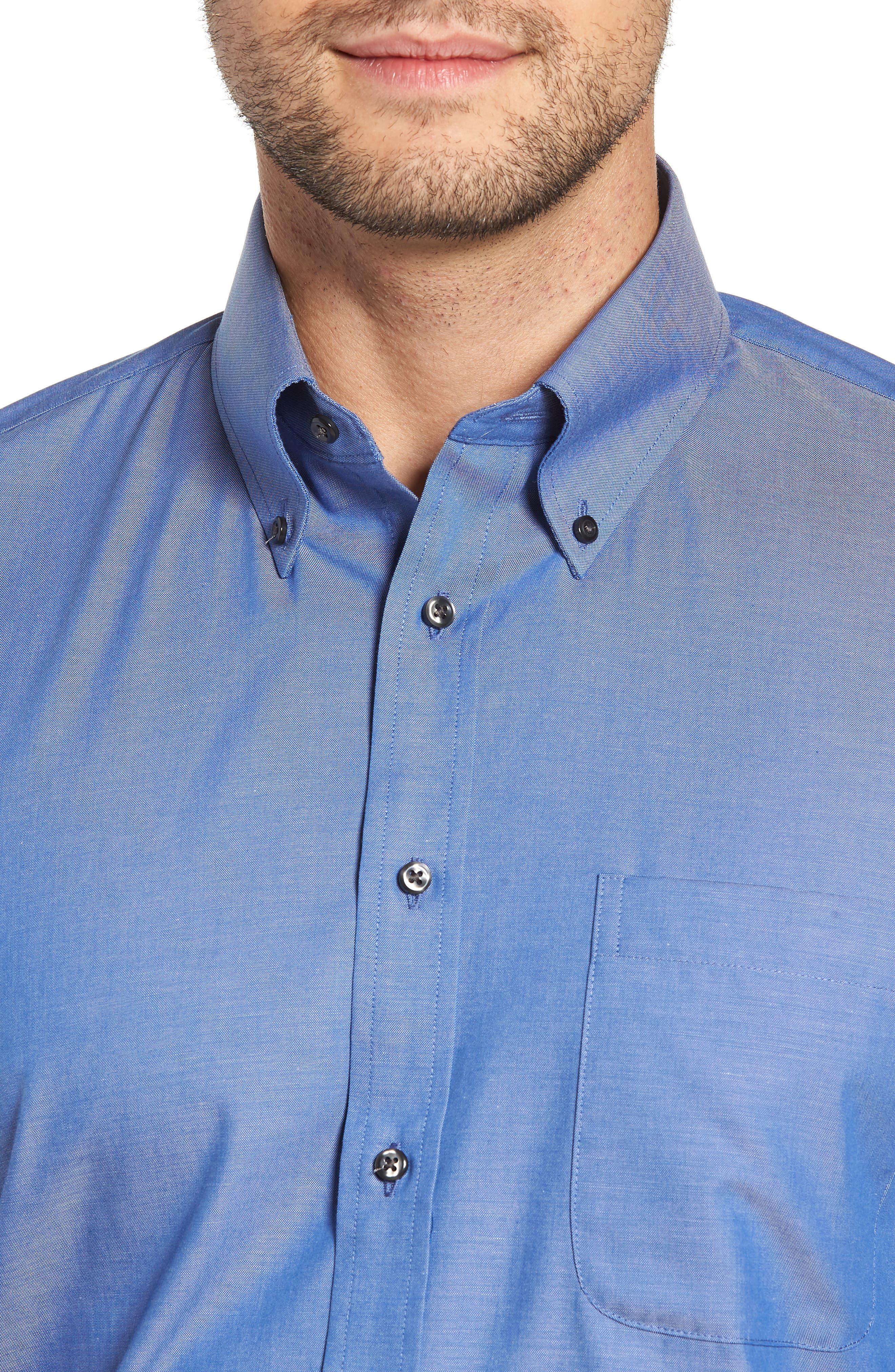 Traditional Fit Non-Iron Dress Shirt,                             Alternate thumbnail 2, color,                             BLUE DENIM