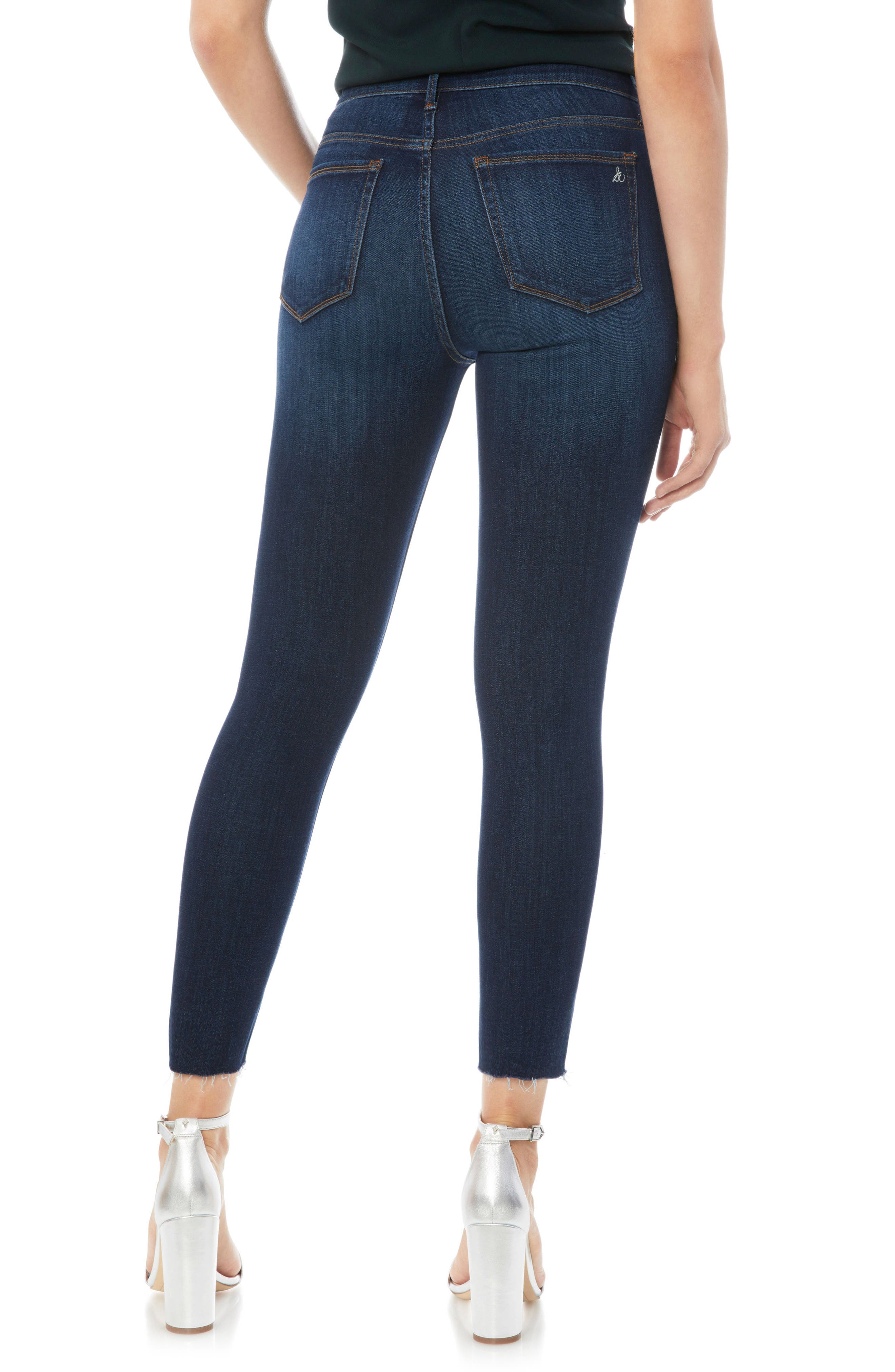 The Stiletto Raw Edge Skinny Jeans,                             Alternate thumbnail 2, color,                             JACOB