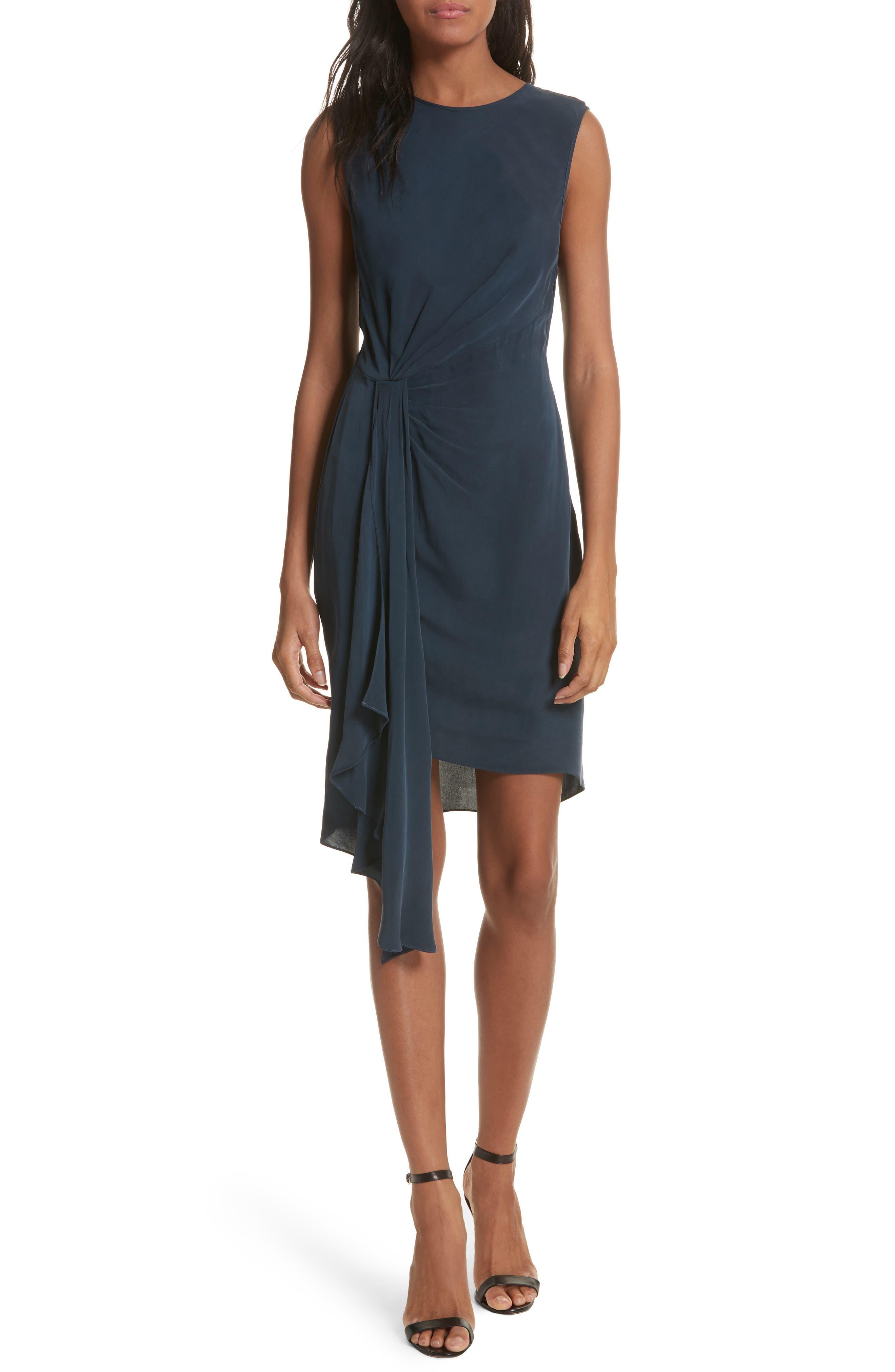 Rachael Front Drape Dress,                         Main,                         color, 410