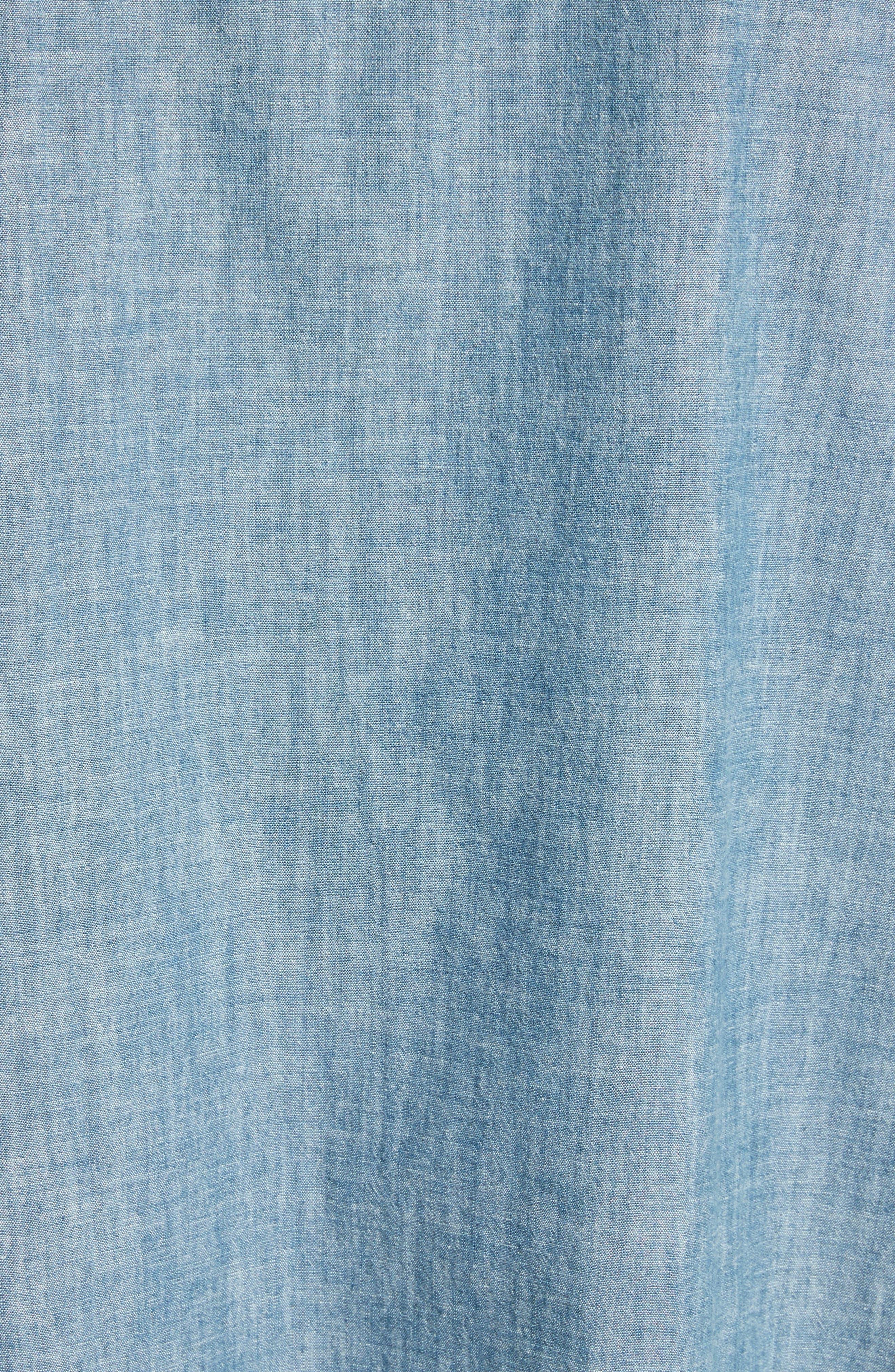 Oversize Chambray Snap Front Shirt,                             Alternate thumbnail 2, color,                             400