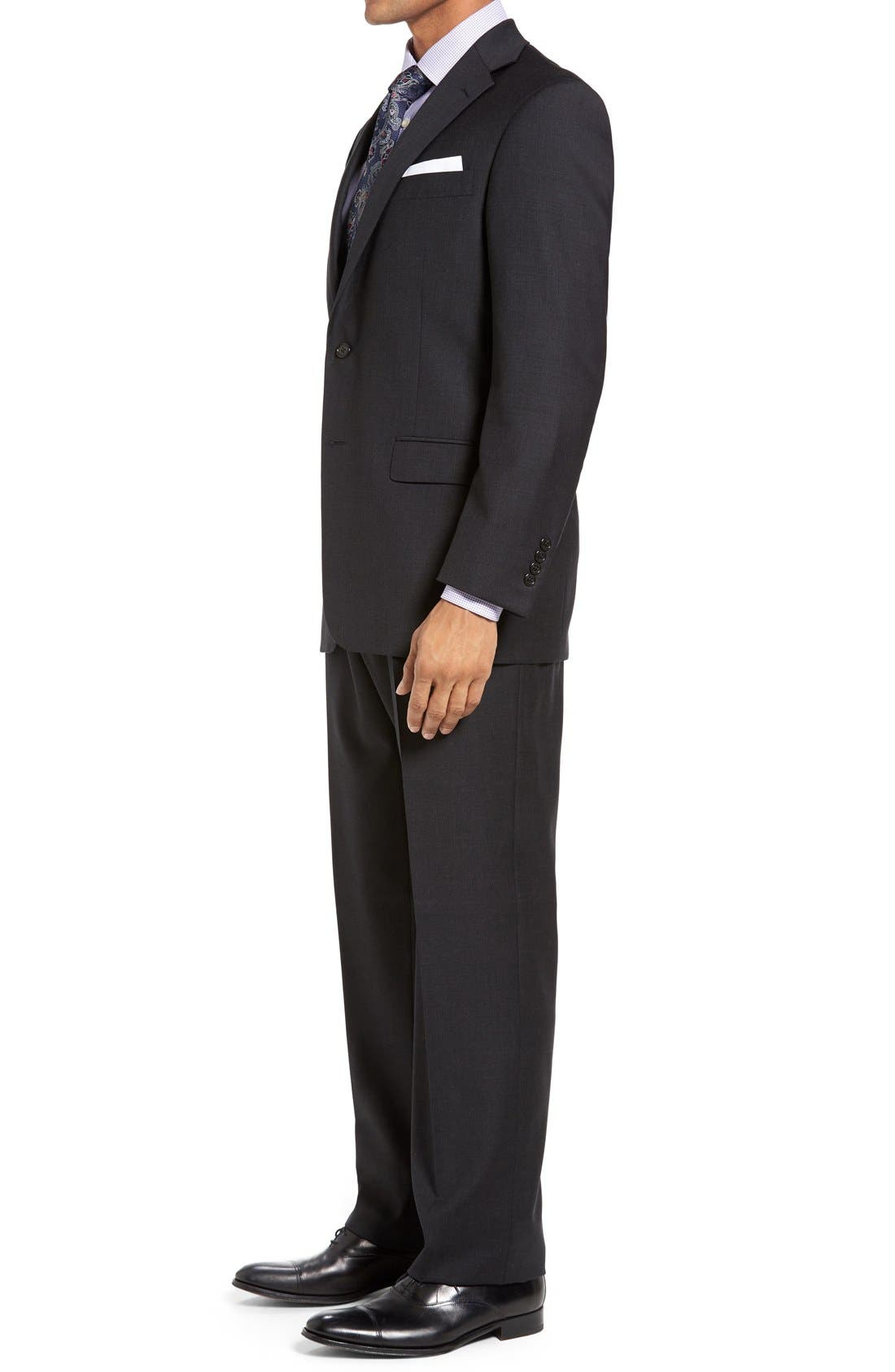 Chicago Classic Fit Solid Wool Suit,                             Alternate thumbnail 5, color,                             010