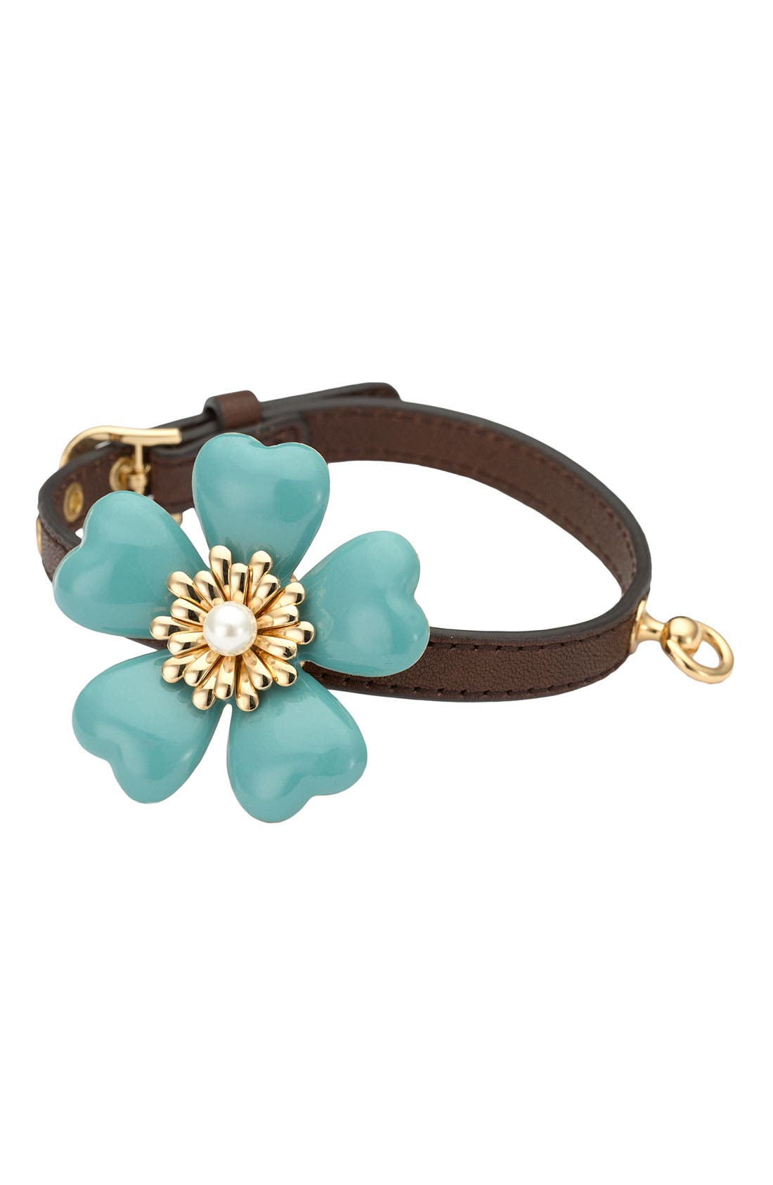 JUICY COUTURE Flower Dog Collar, Main, color, 376