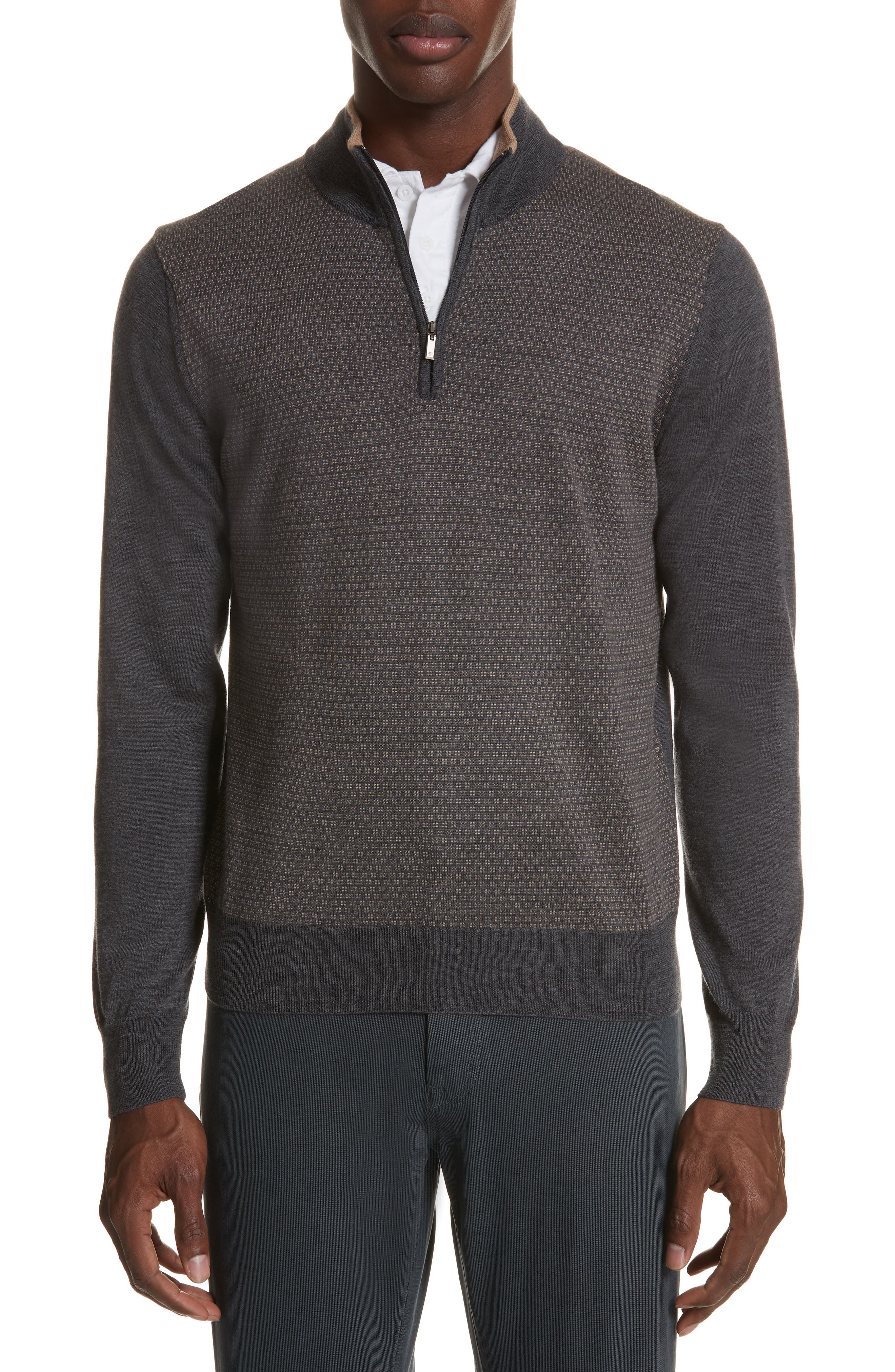 Quarter Zip Wool Sweater,                         Main,                         color, 020