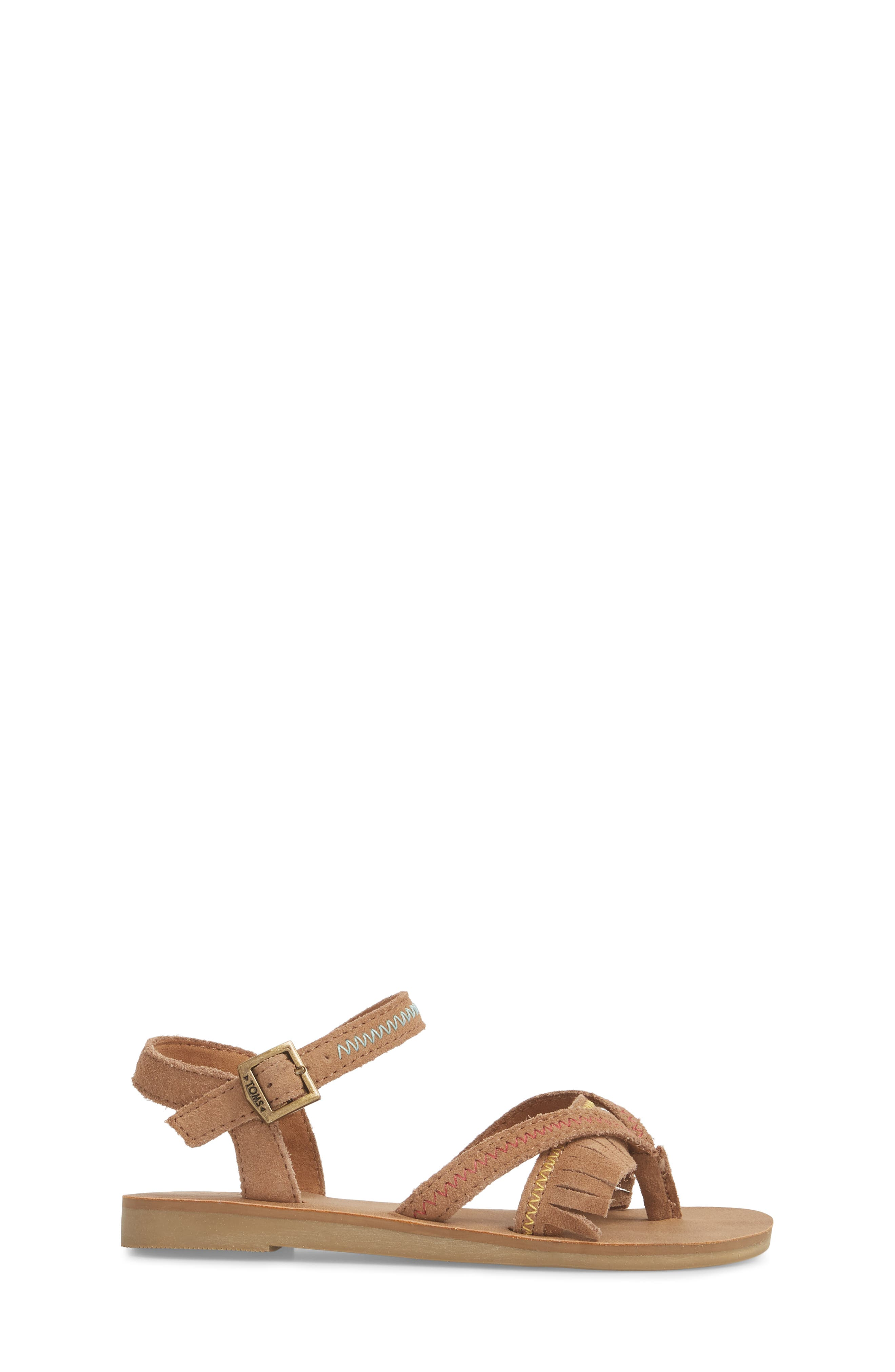 Lexie Fringe Sandal,                             Alternate thumbnail 3, color,