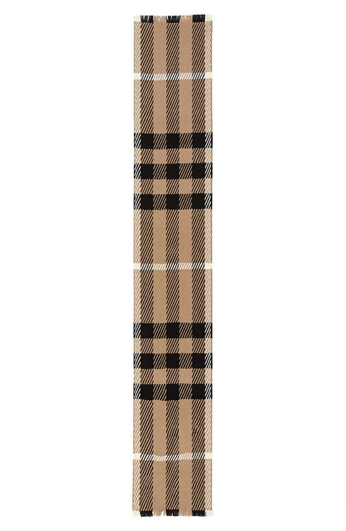 Exploded Check Wool & Cashmere Scarf,                             Alternate thumbnail 2, color,                             200