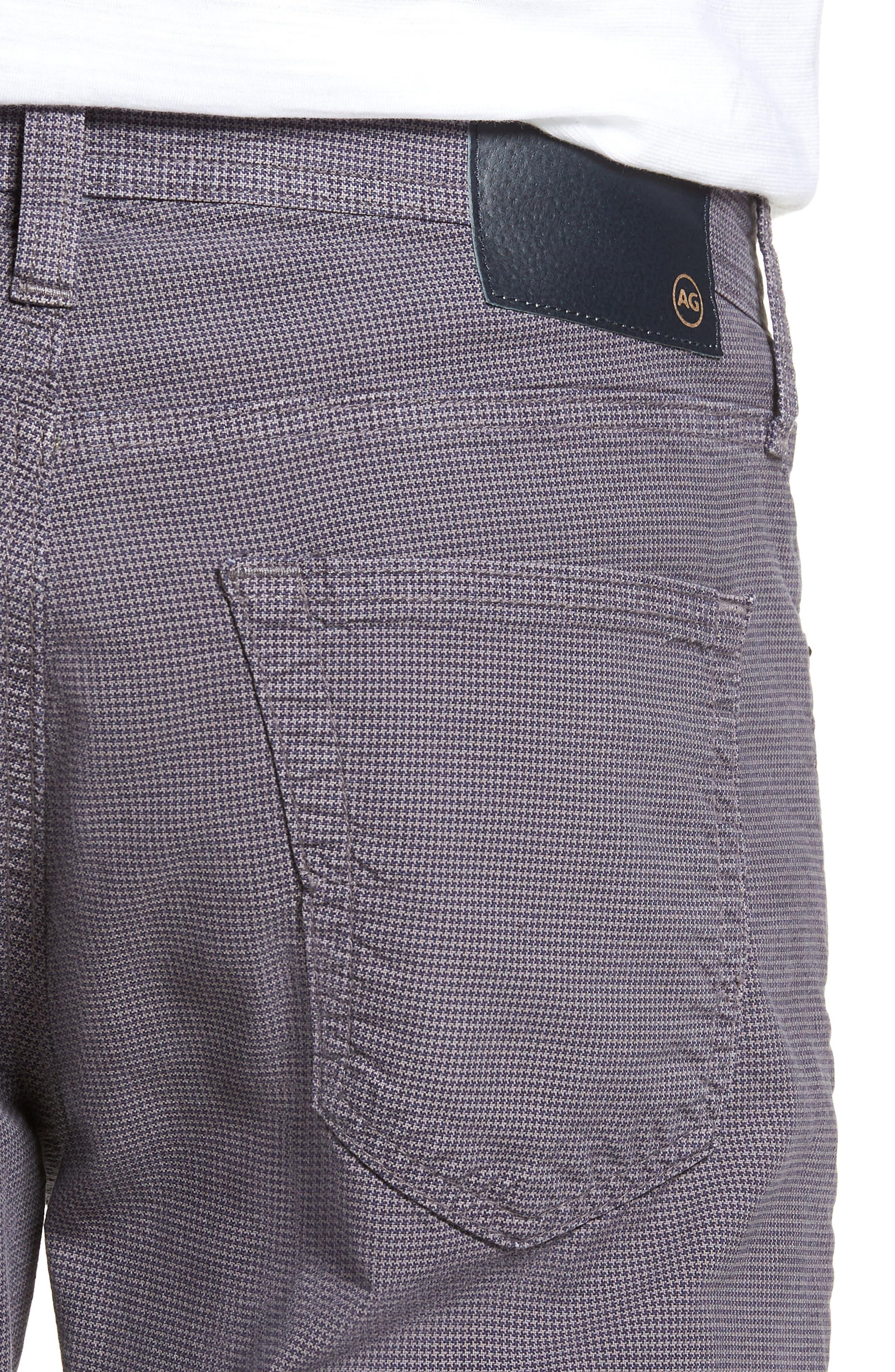 Everett Houndstooth Slim Fit Pants,                             Alternate thumbnail 4, color,                             AUTUMN FOG