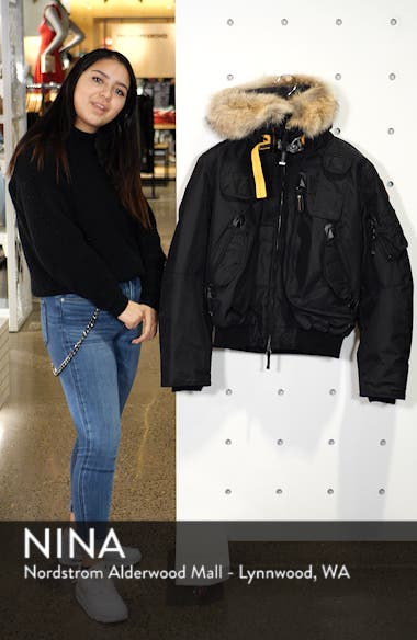 Gobi 700 Fill Power Down Bomber Jacket with Genuine Coyote Fur Trim, sales video thumbnail