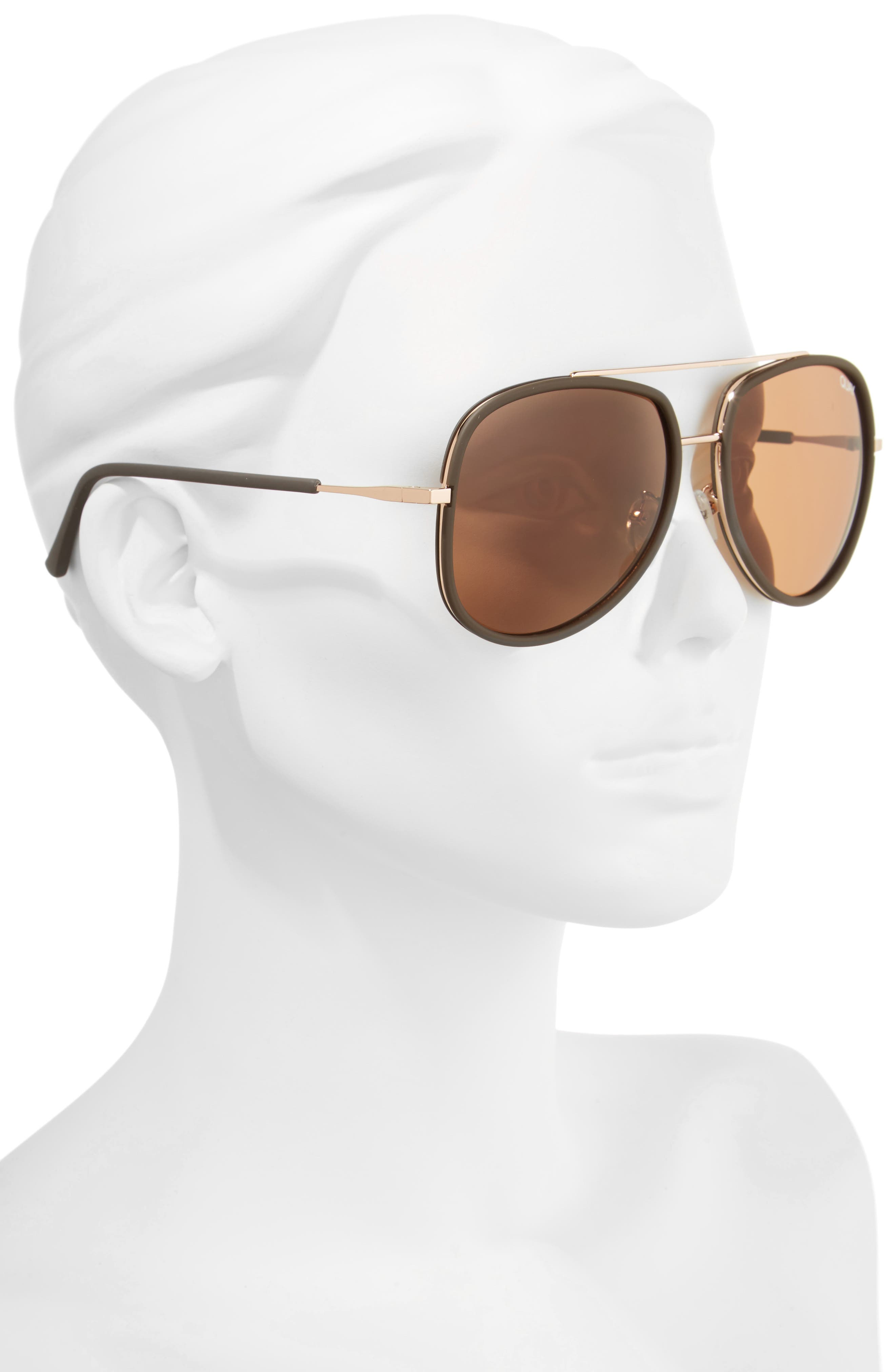 'Needing Fame' 65mm Aviator Sunglasses,                             Alternate thumbnail 2, color,                             201