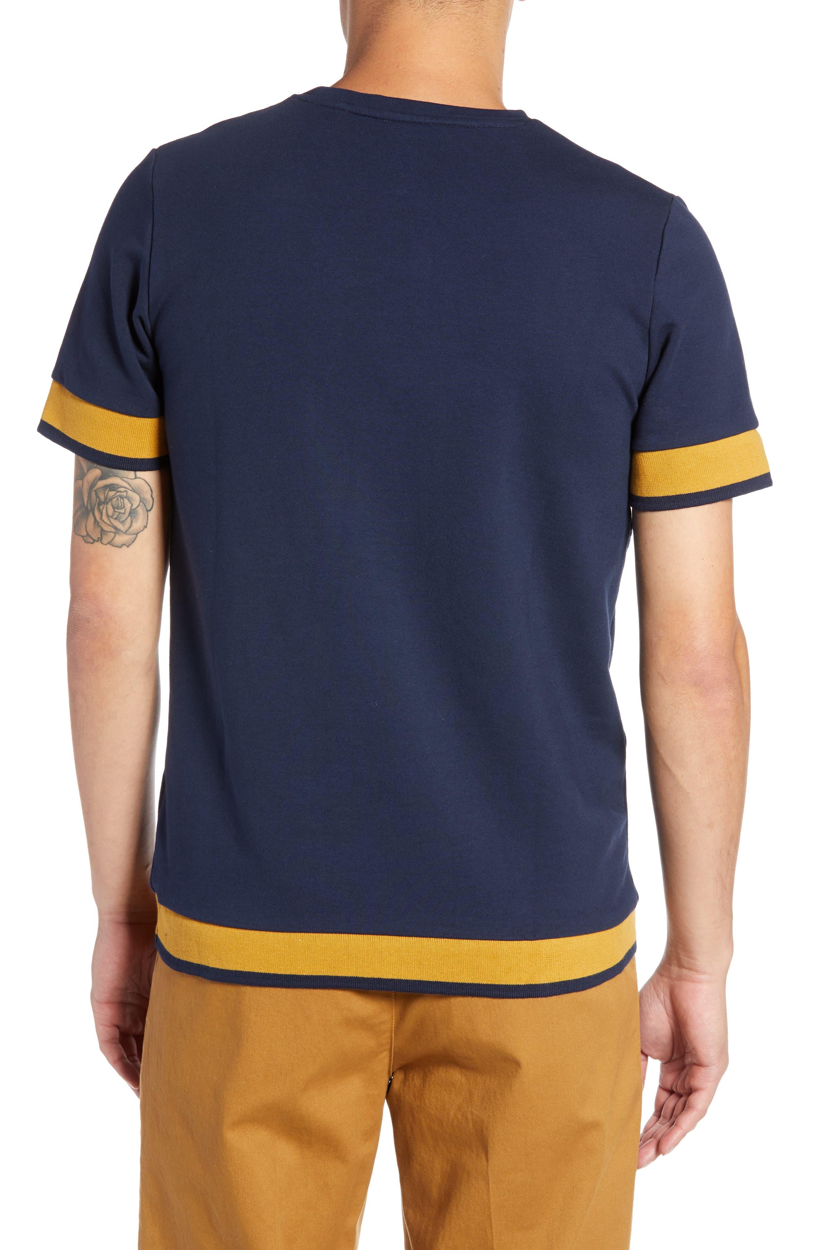 Tipped T-Shirt,                             Alternate thumbnail 2, color,                             NAVY