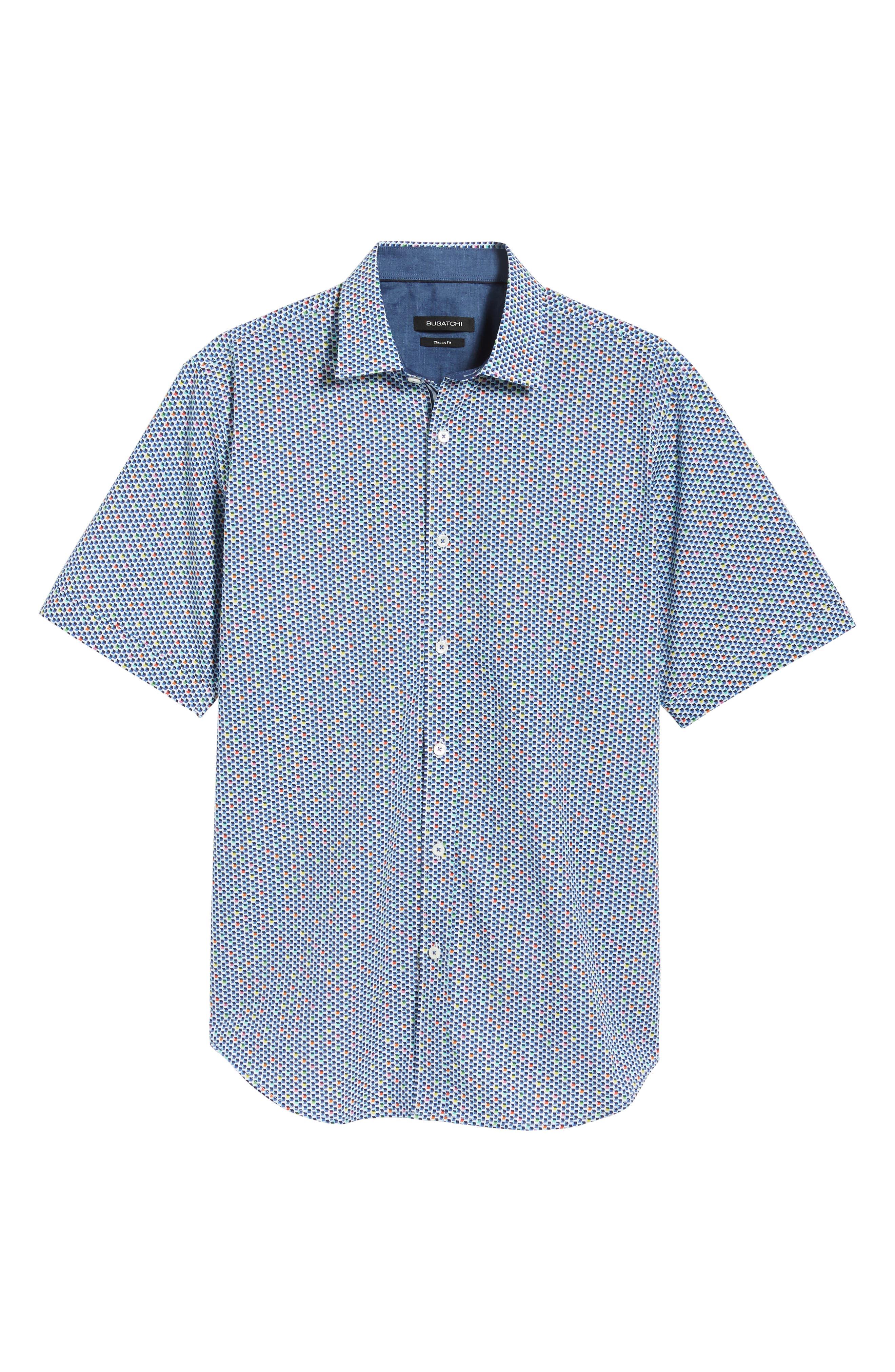 Classic Fit Print Sport Shirt,                             Alternate thumbnail 5, color,                             601
