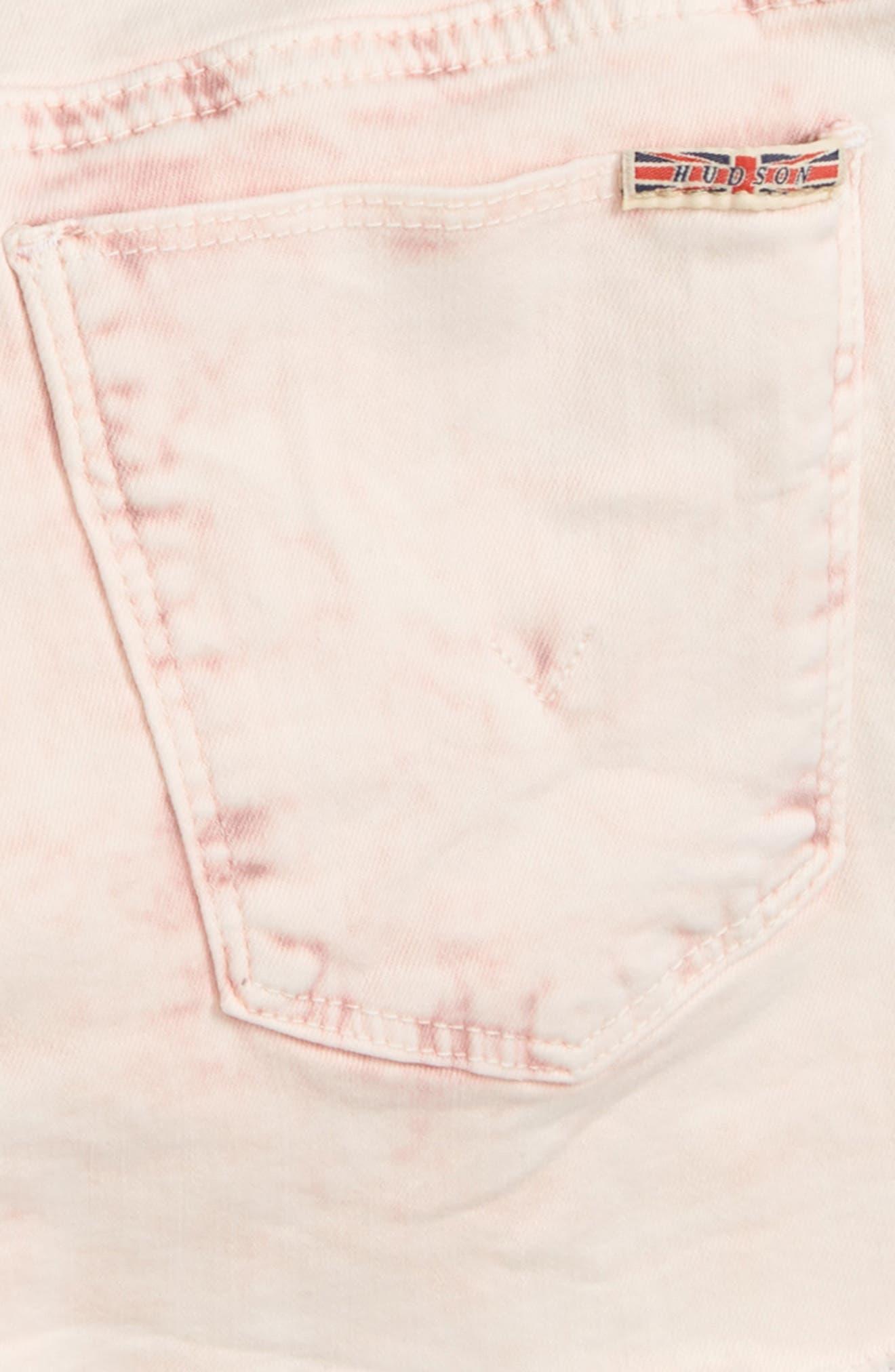 Frayed Acid Wash Shorts,                             Alternate thumbnail 3, color,                             650