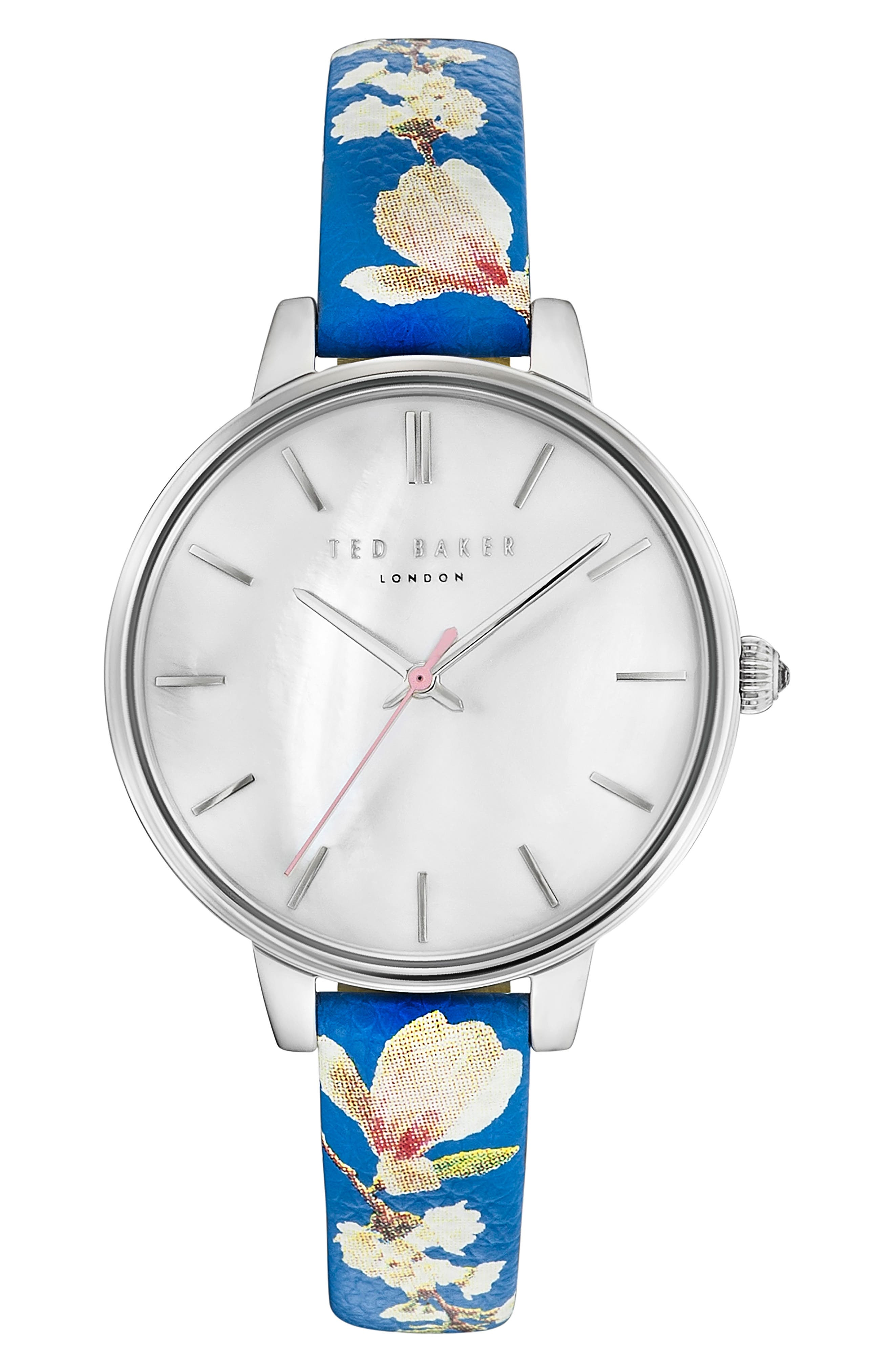 Kate Leather Strap Watch, 36mm,                         Main,                         color, 040