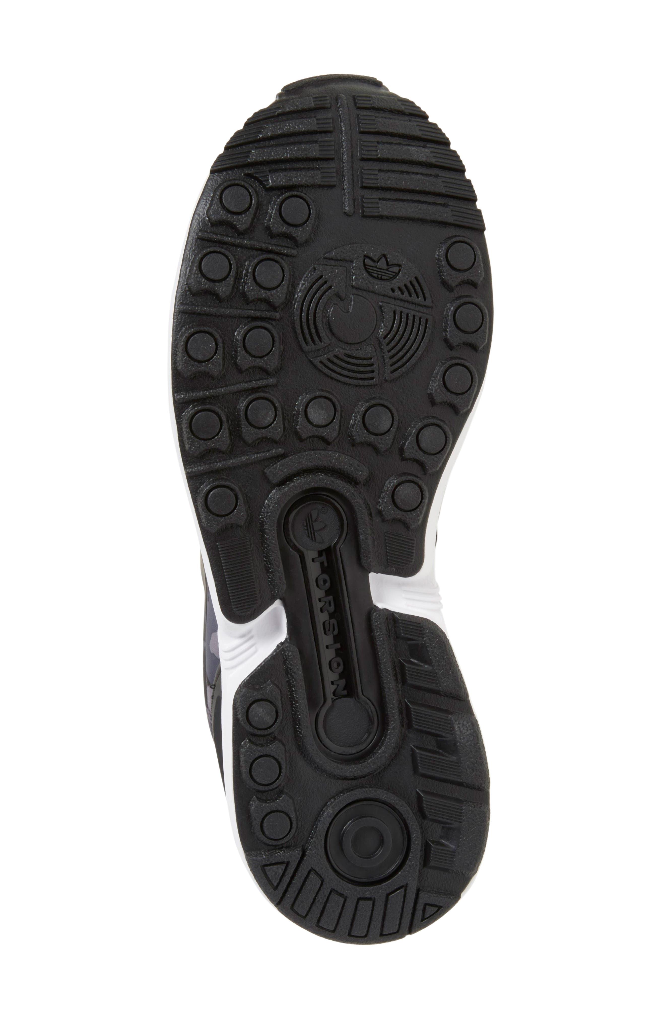 'ZX Flux EL' Sneaker,                             Alternate thumbnail 4, color,                             001