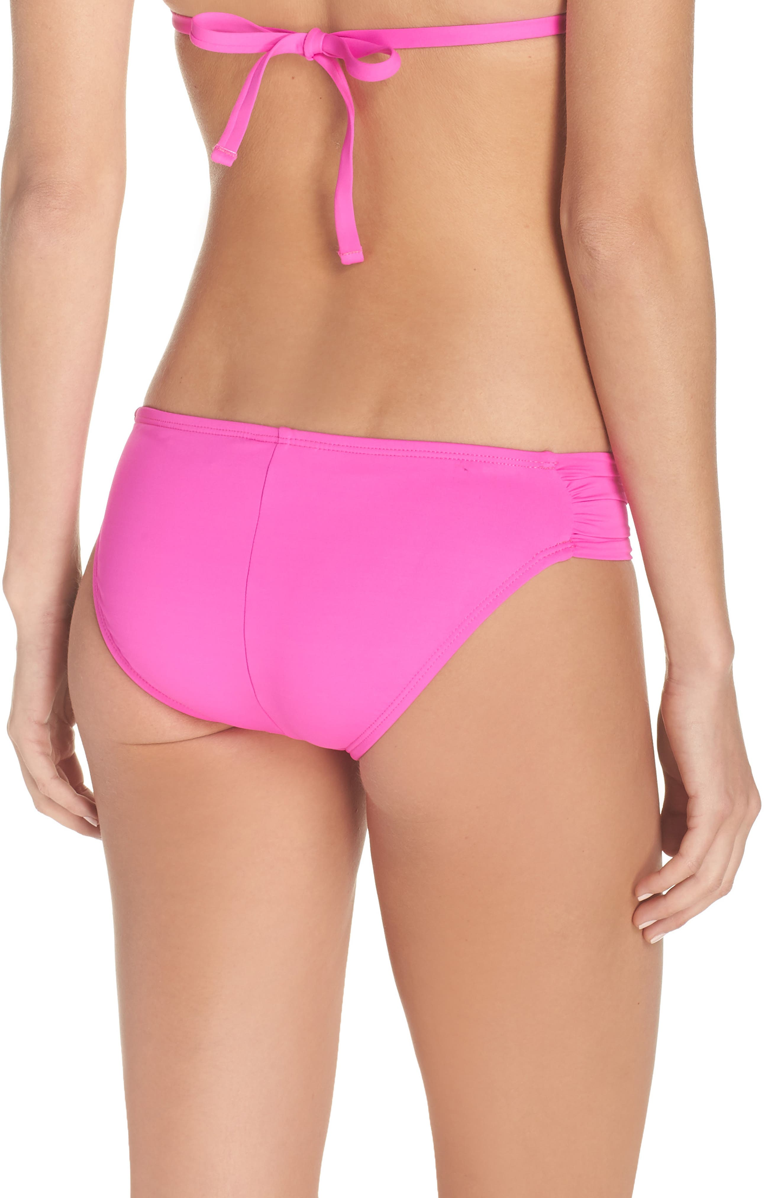 Island Blanca Halter Bikini Top,                             Alternate thumbnail 2, color,                             ELECTRIC PINK