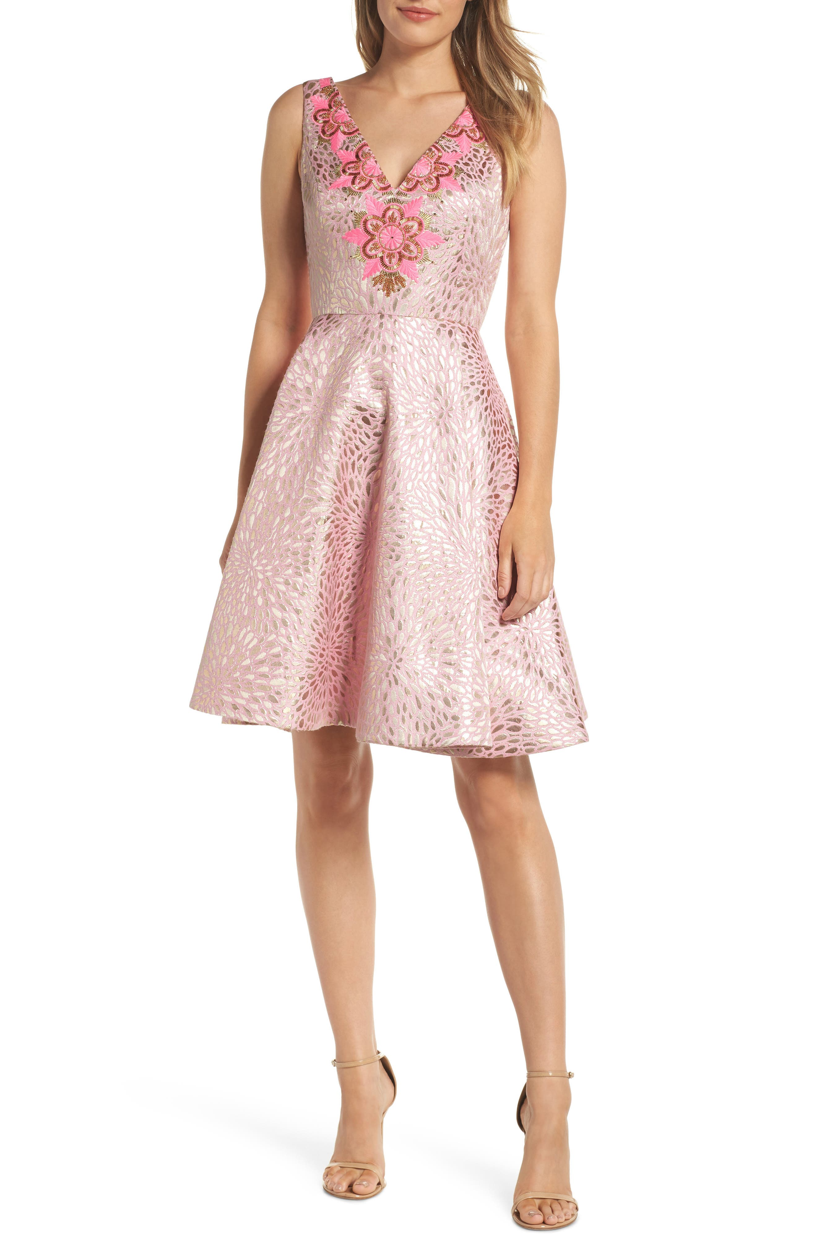 Lilly Pulitzer Elanie Fit & Flare Dress, Pink