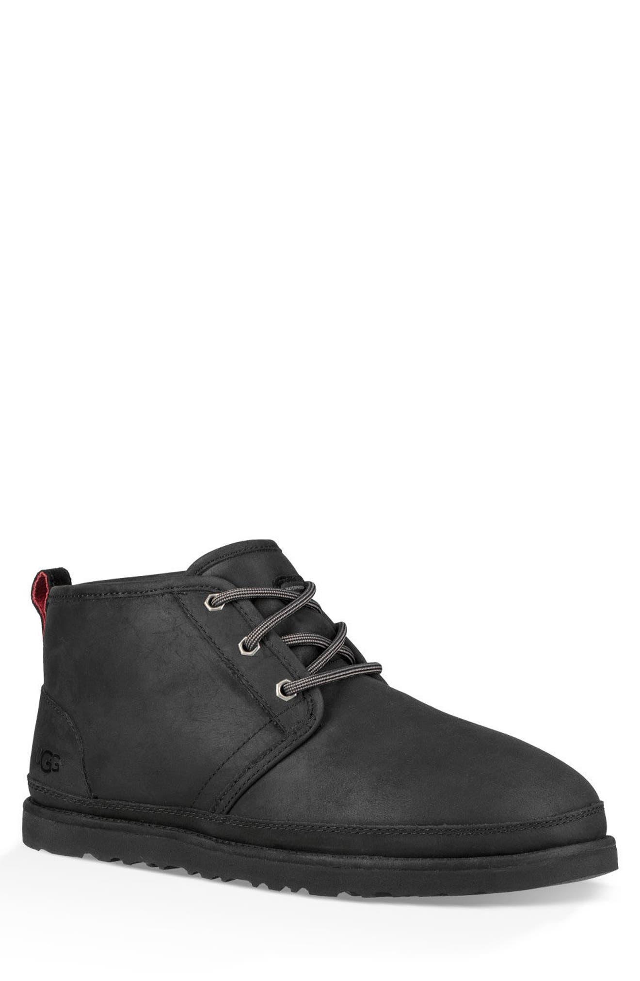 UGG<SUP>®</SUP>,                             Neumel Waterproof Chukka Boot,                             Main thumbnail 1, color,                             BLACK