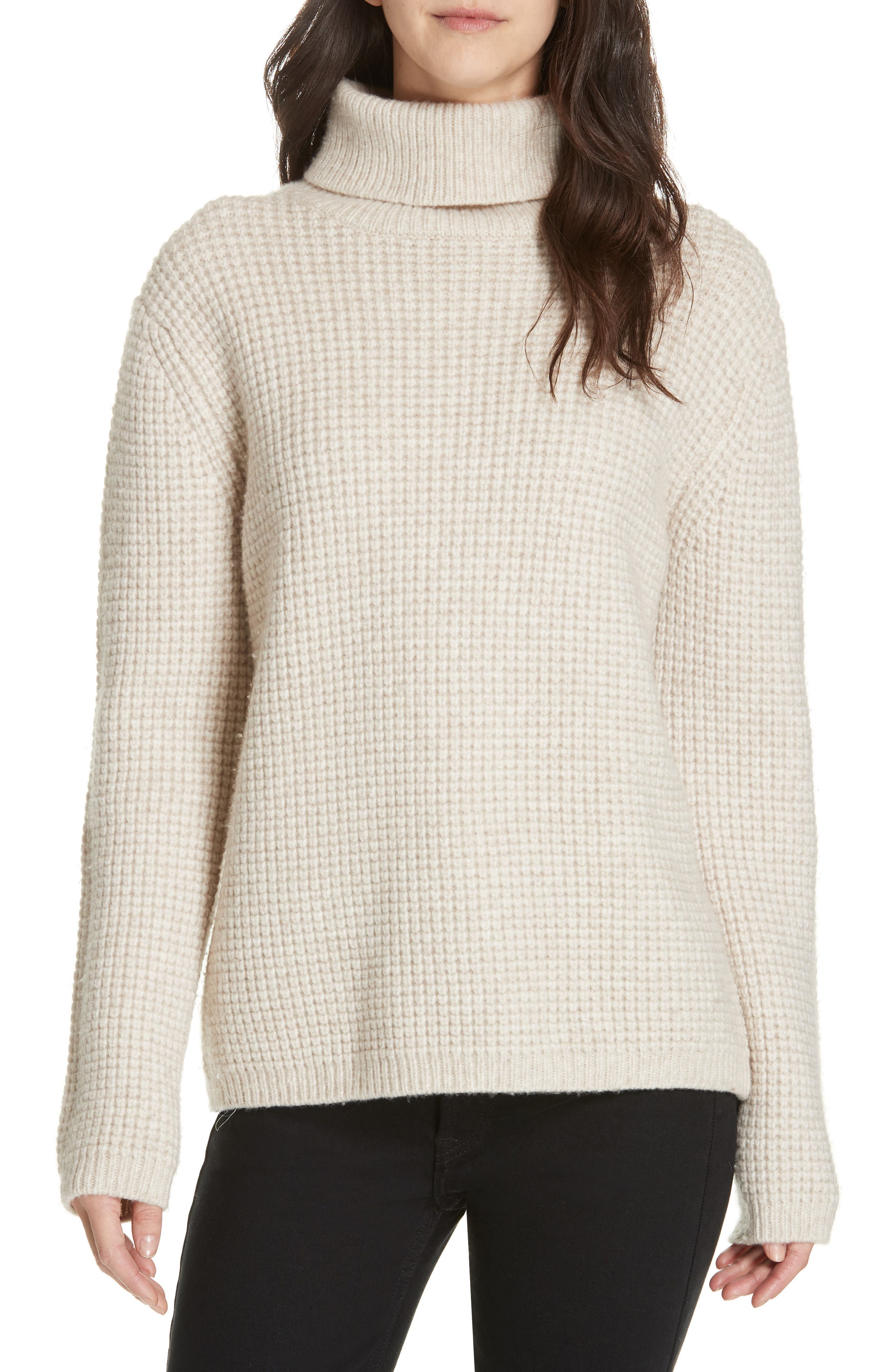 Seattle Turtleneck Sweater, Main, color, OATMEAL