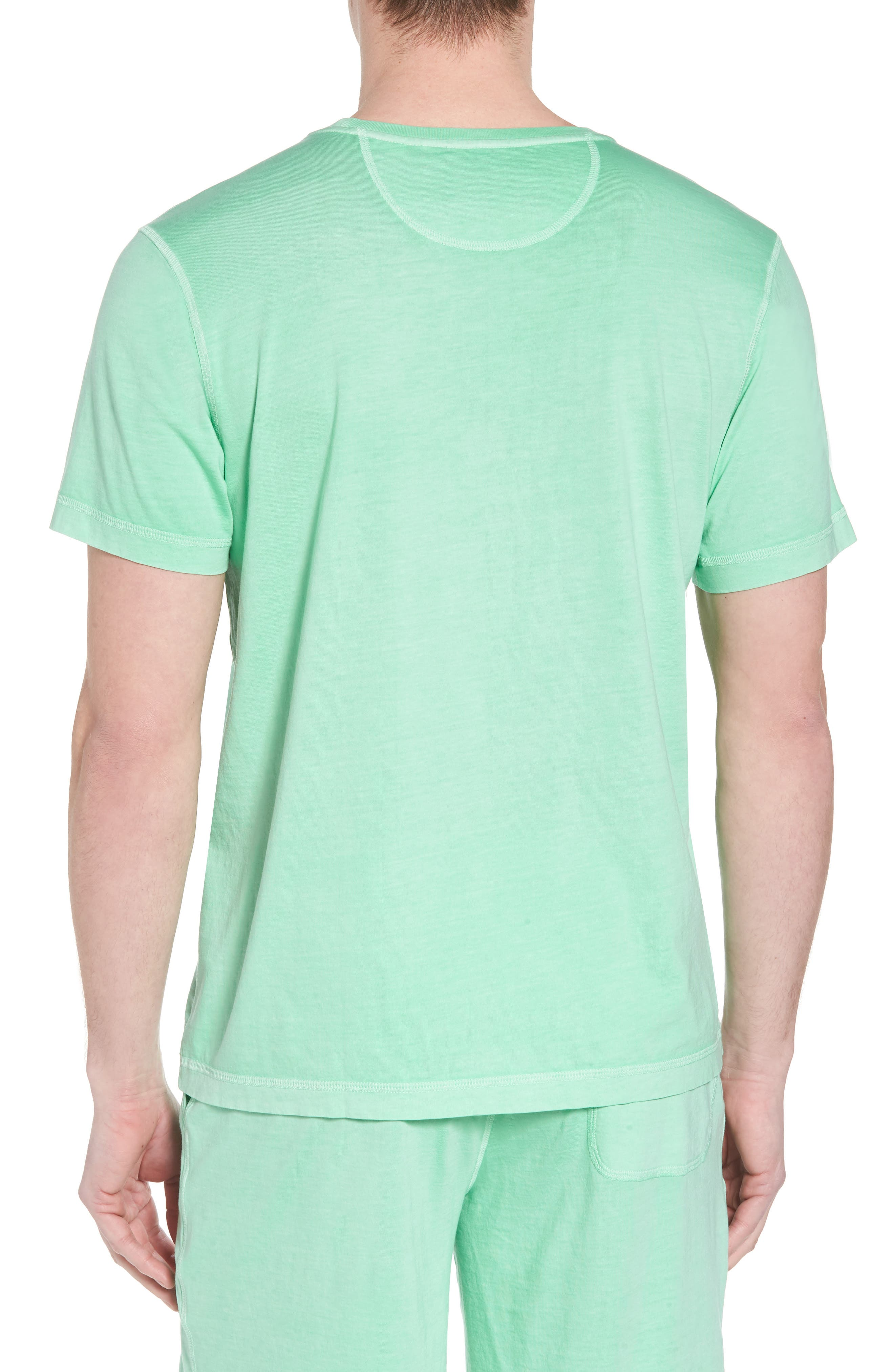 Peruvian Pima Cotton Crewneck T-Shirt,                             Alternate thumbnail 2, color,                             LIME