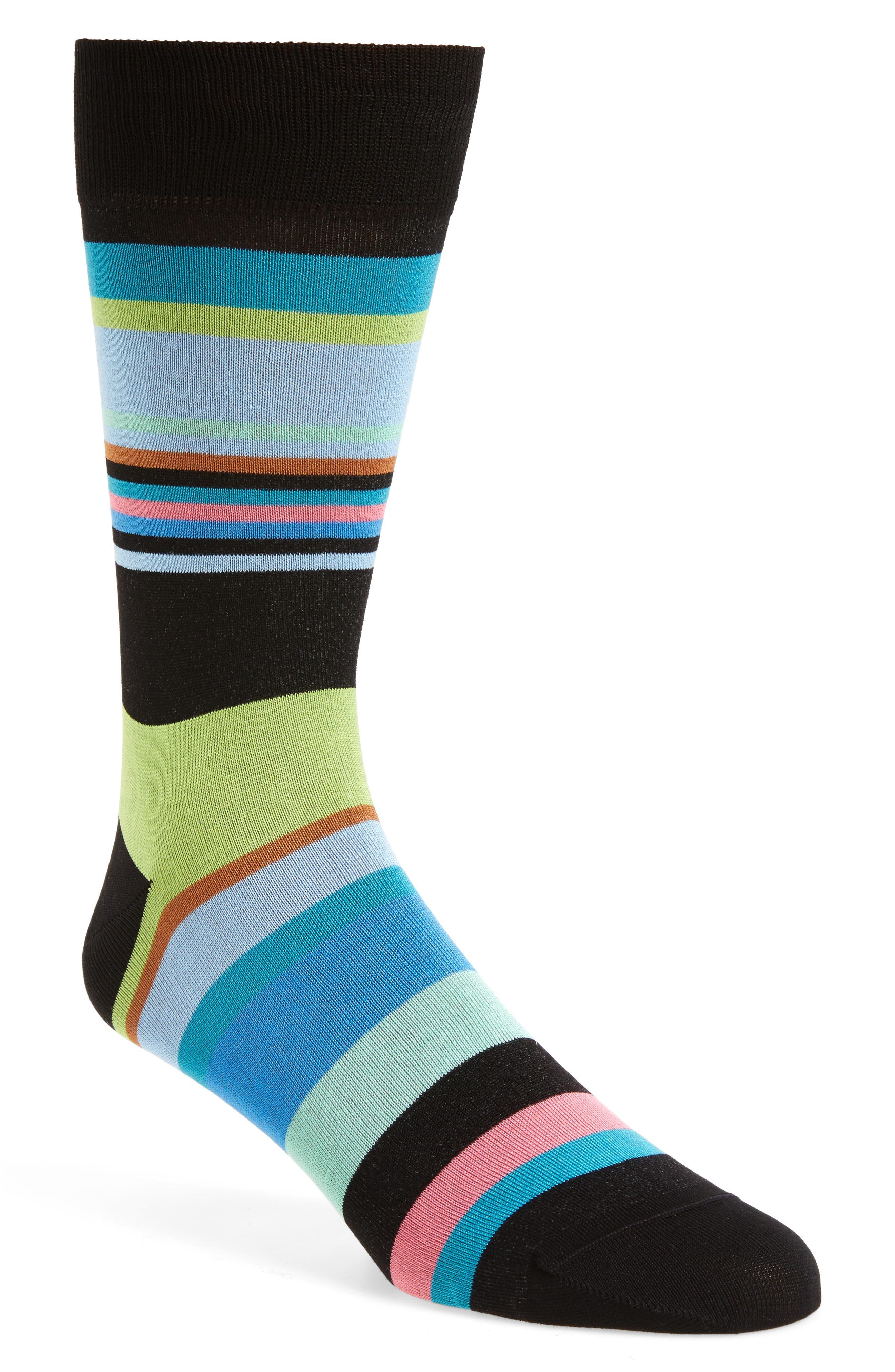Stripe Crew Socks,                             Main thumbnail 1, color,                             001