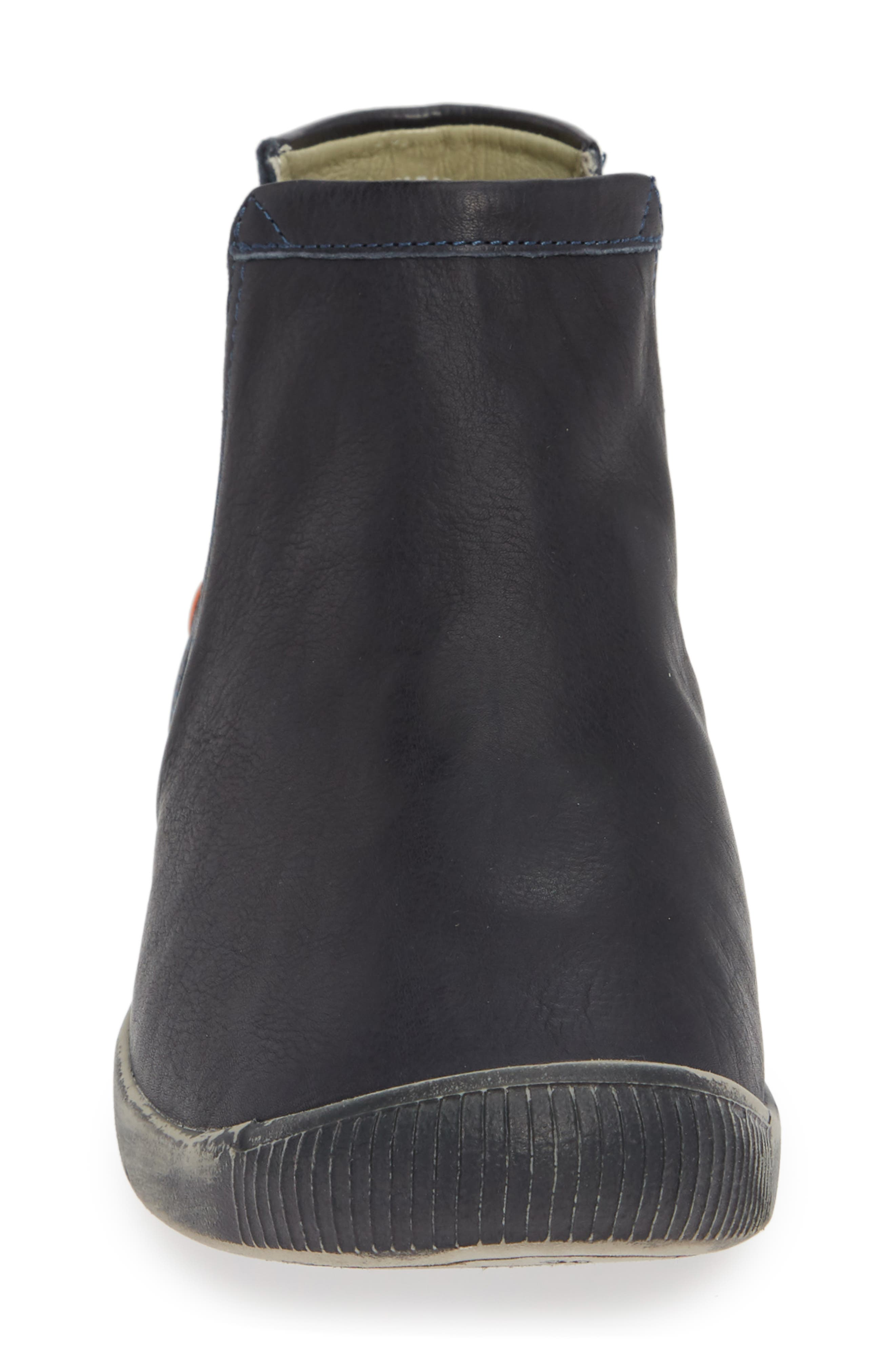SOFTINOS BY FLY LONDON,                             Ici Sneaker,                             Alternate thumbnail 4, color,                             NAVY SMOOTH LEATHER