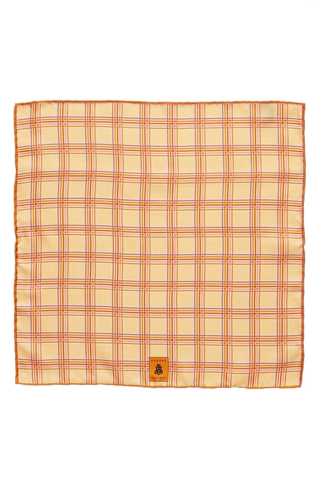 Plaid Silk Pocket Square,                             Alternate thumbnail 12, color,