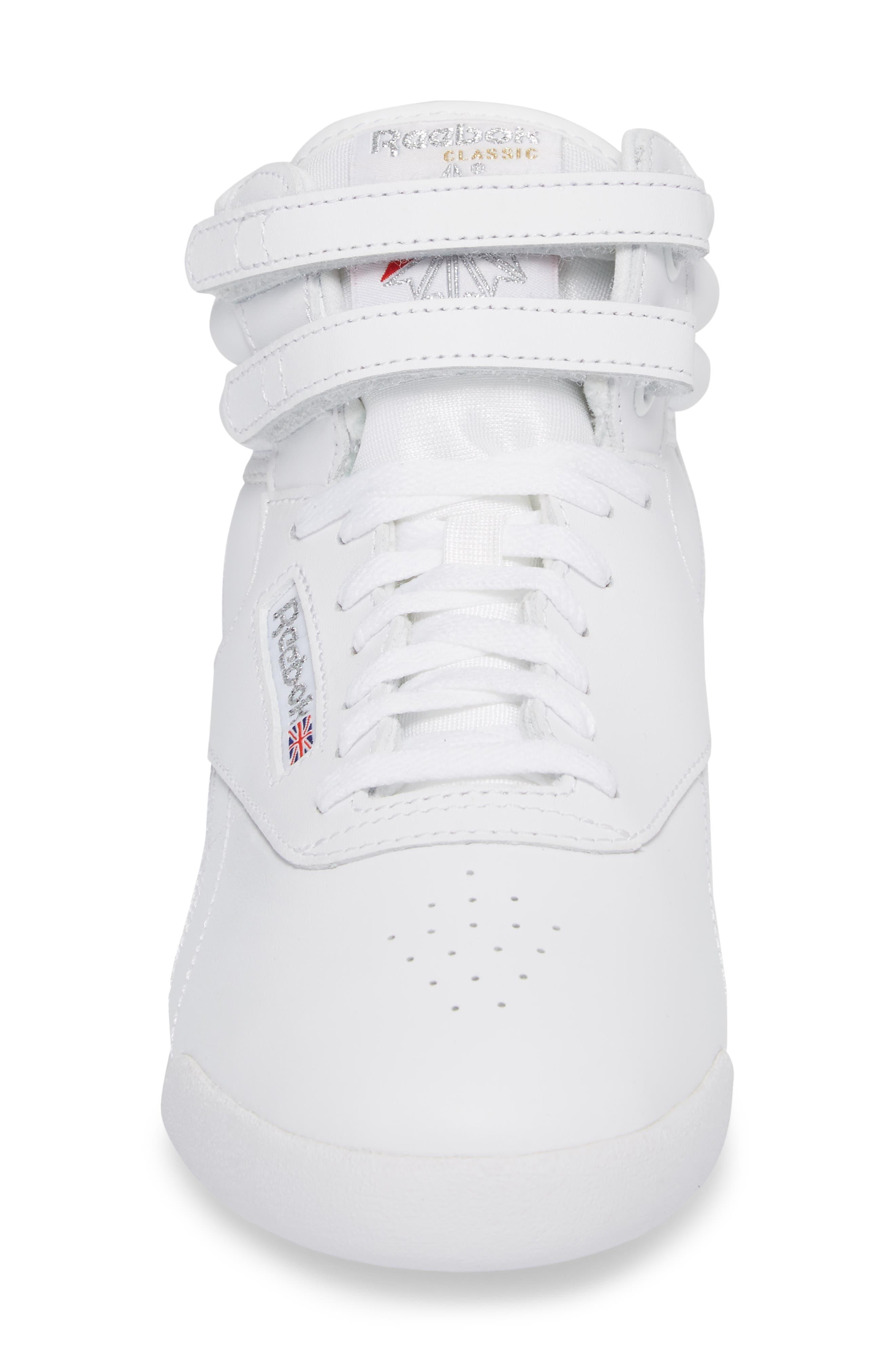 Freestyle Hi Sneaker,                             Alternate thumbnail 4, color,                             WHITE/ SILVER