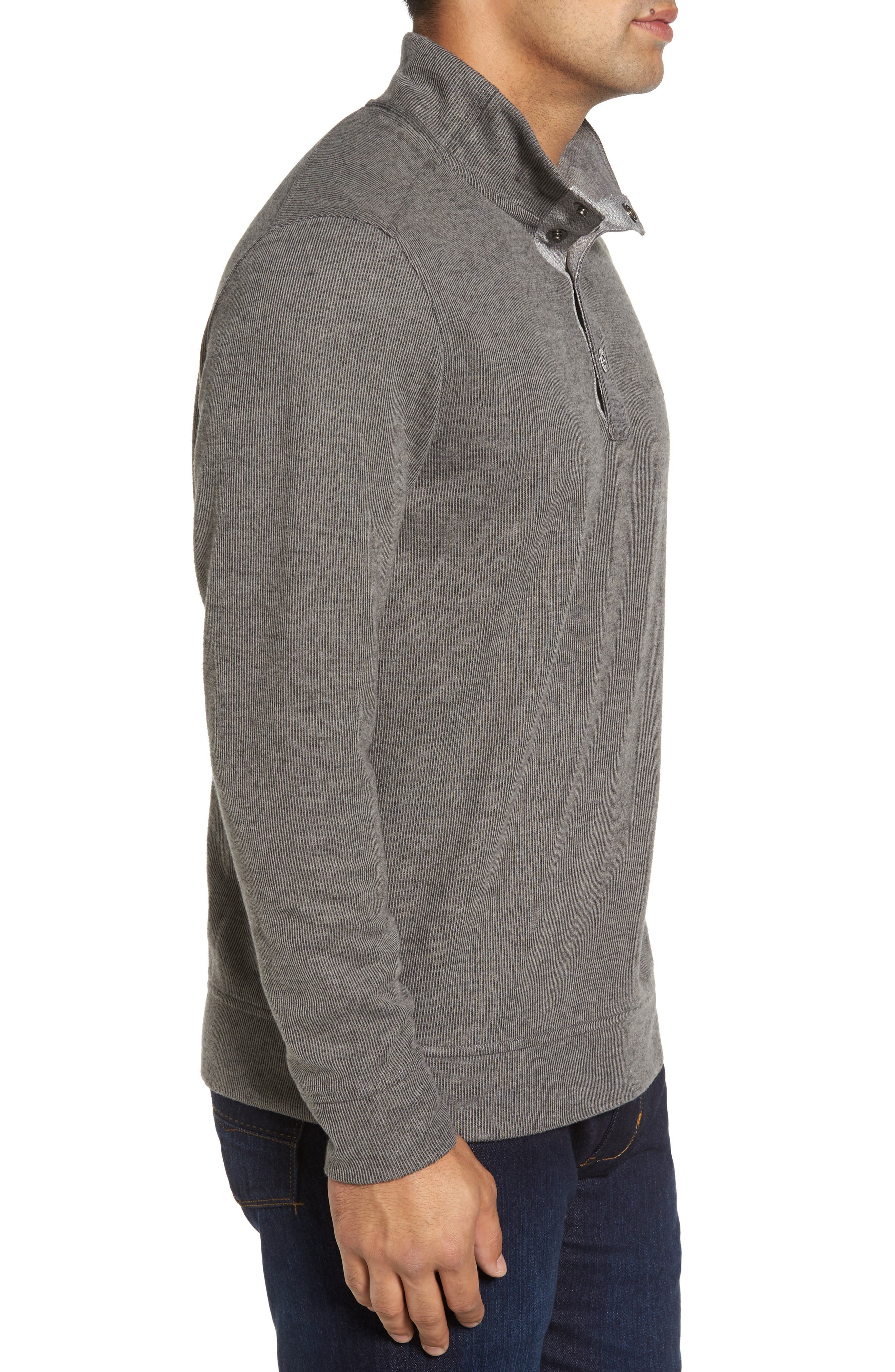 Cold Springs Snap Mock Neck Sweater,                             Alternate thumbnail 3, color,                             001
