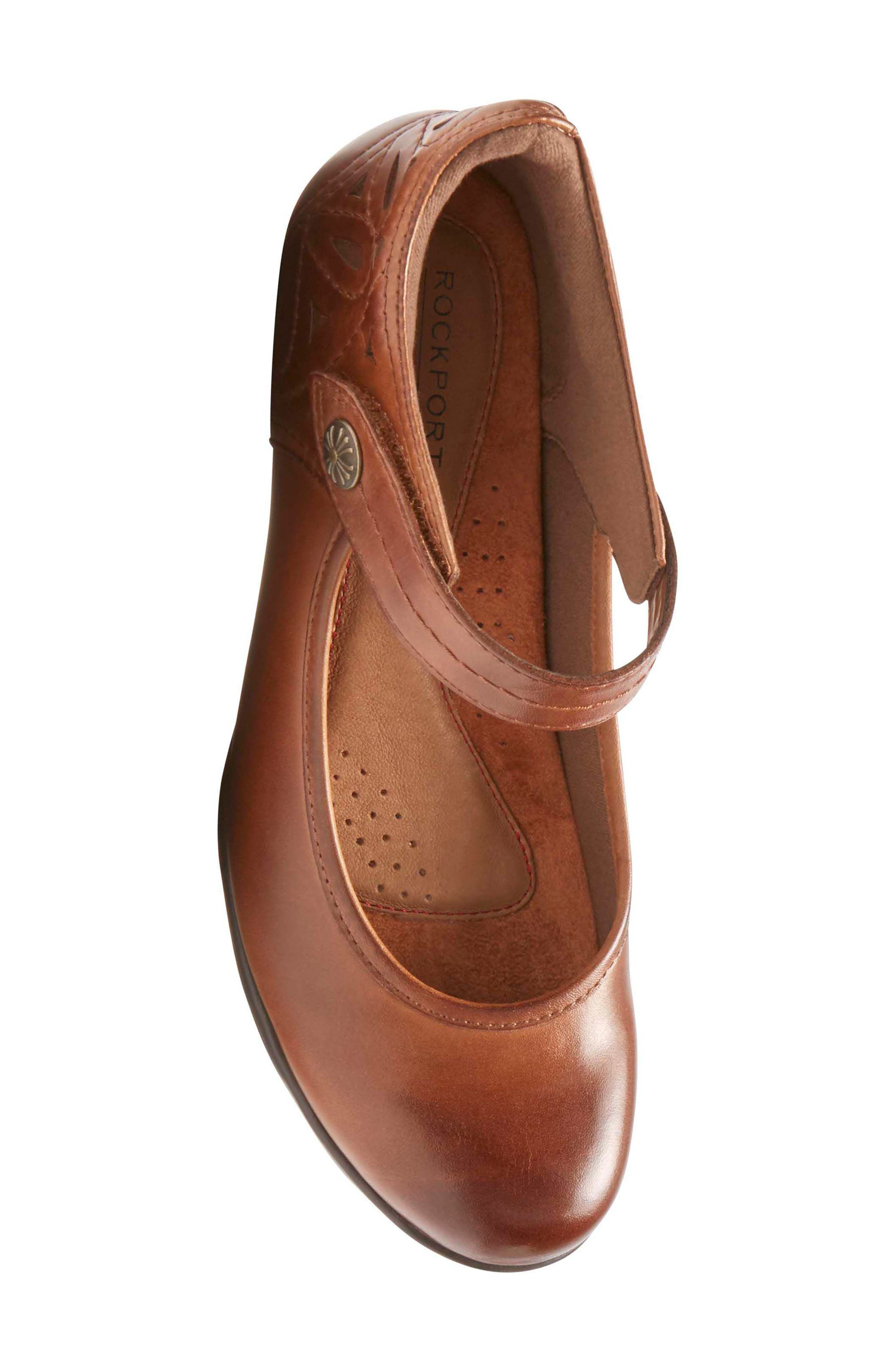 Abbott Mary Jane Pump,                             Alternate thumbnail 5, color,                             ALMOND LEATHER