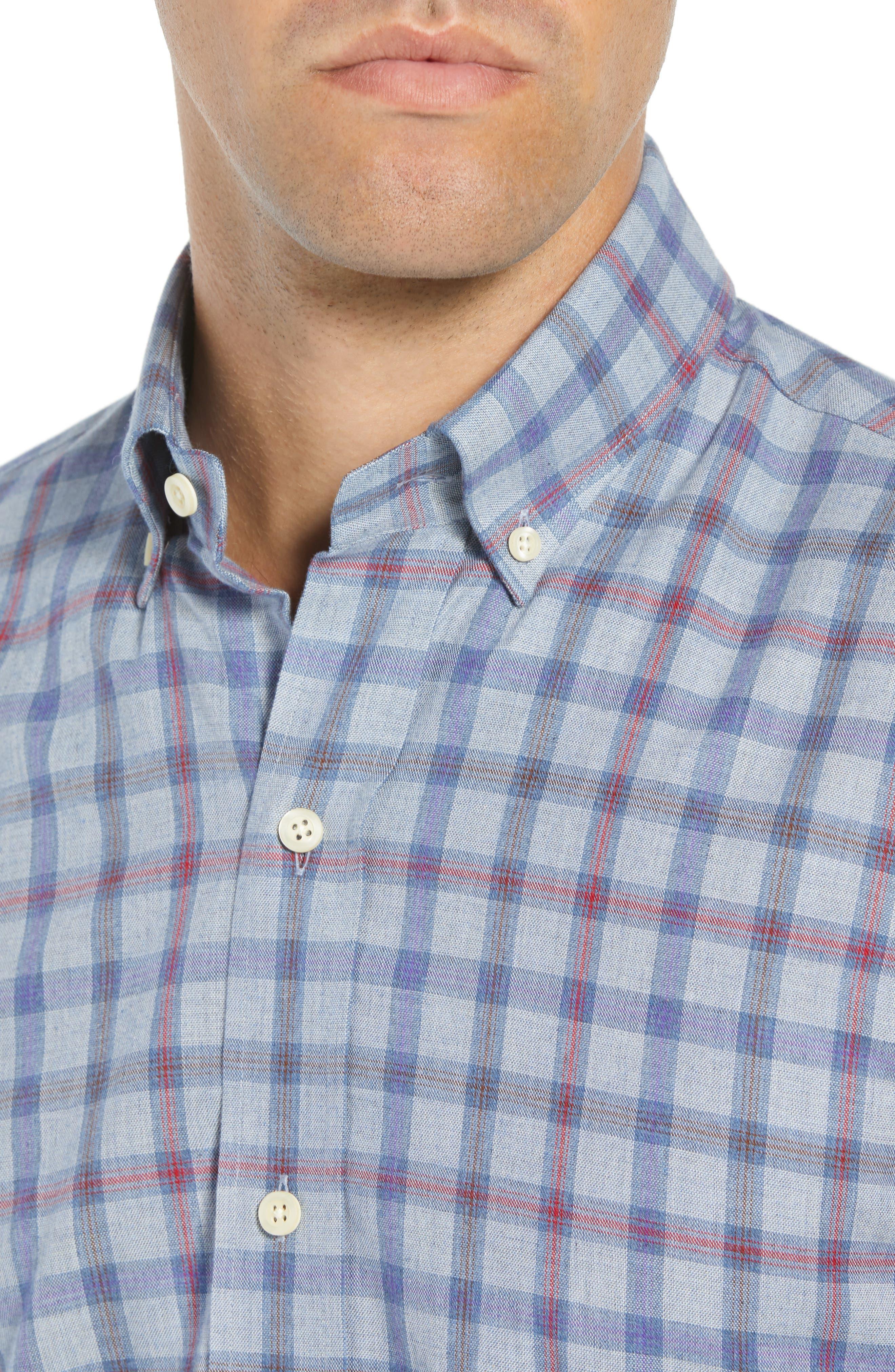Hilbank Trim Fit Check Dress Shirt,                             Alternate thumbnail 2, color,                             CADET BLUE
