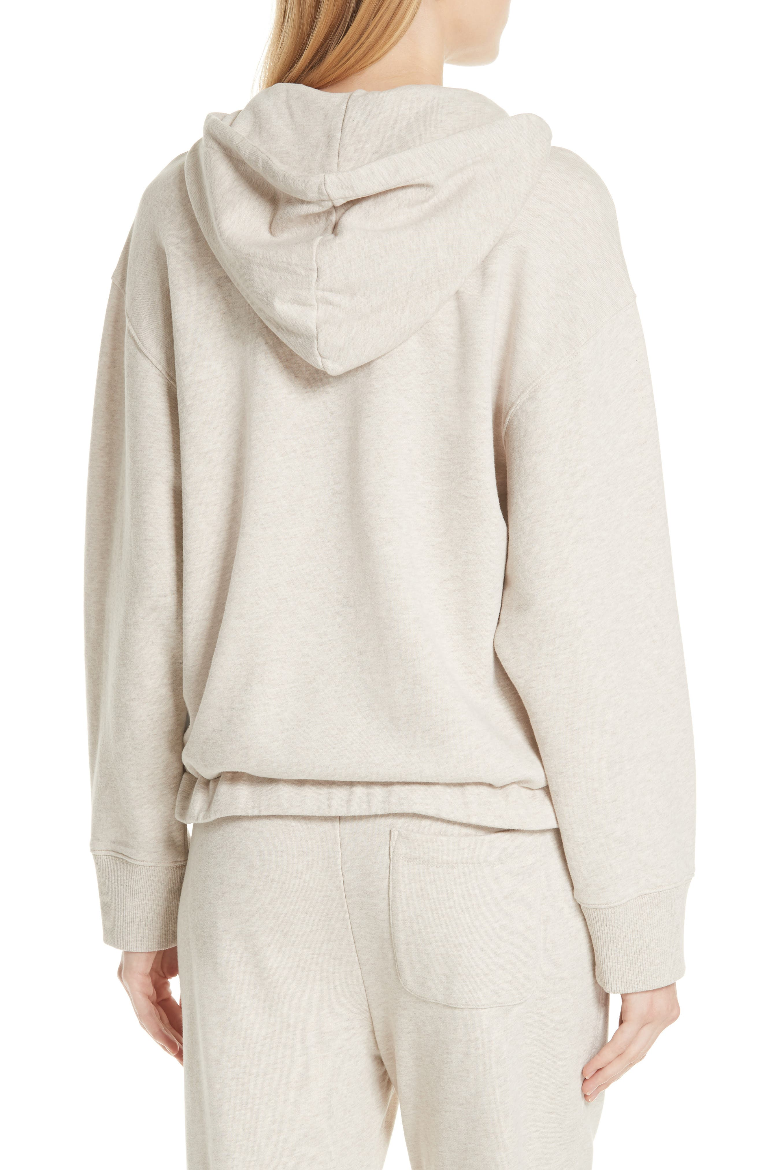 Half Zip Cotton Hoodie Sweatshirt,                             Alternate thumbnail 2, color,                             255