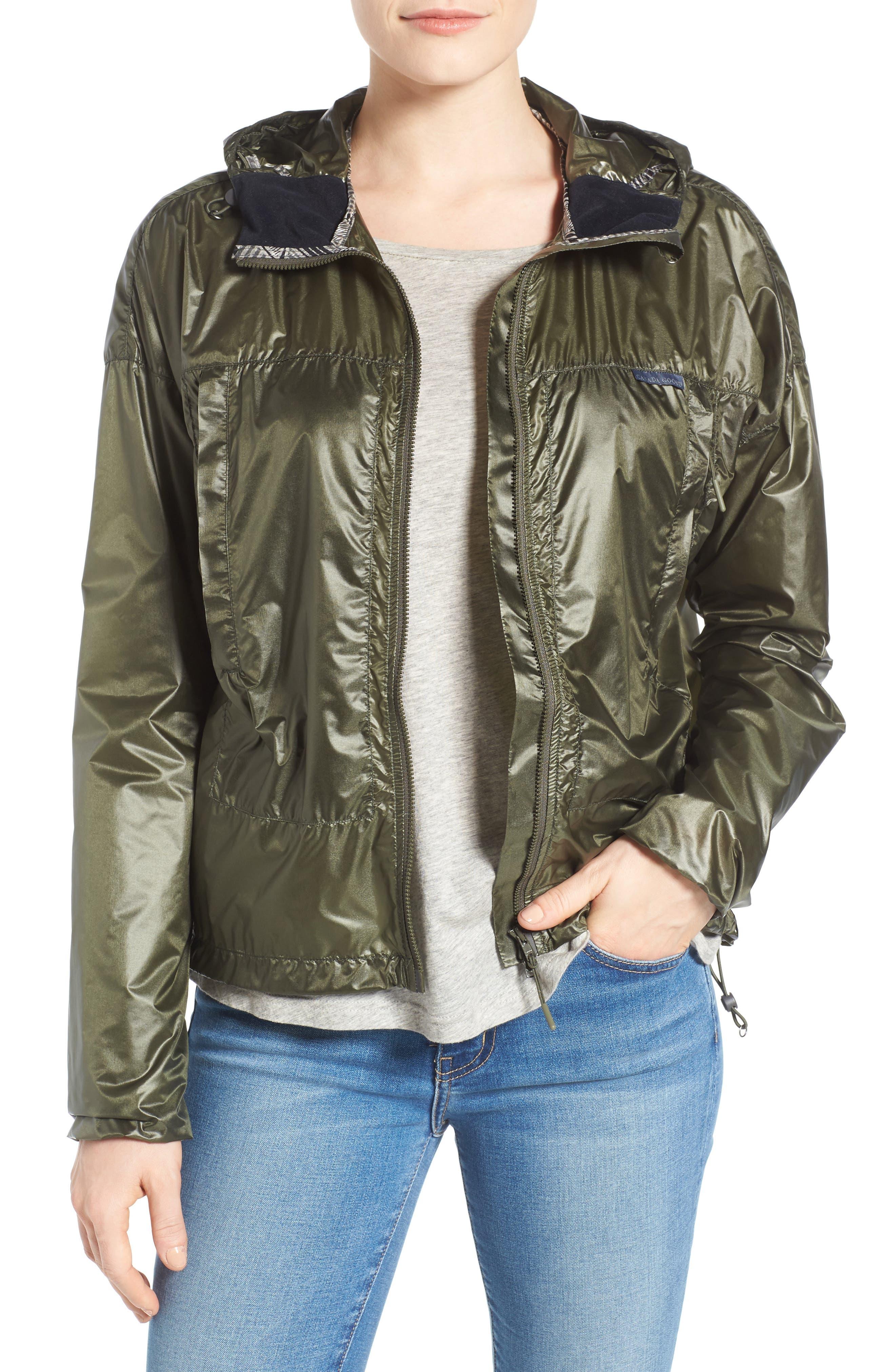 Wabasca Hooded Jacket,                             Main thumbnail 1, color,                             SAGE