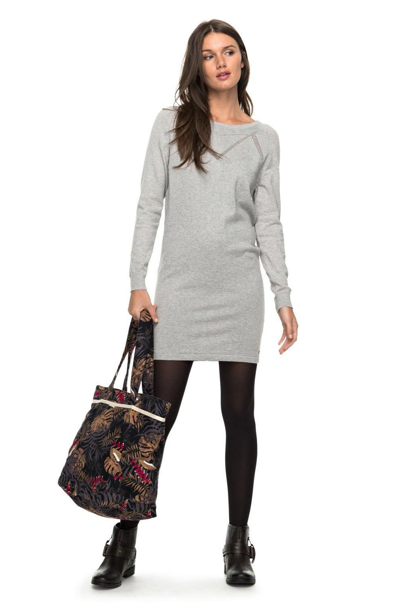 Winter Story Sweater Dress,                             Alternate thumbnail 4, color,                             037