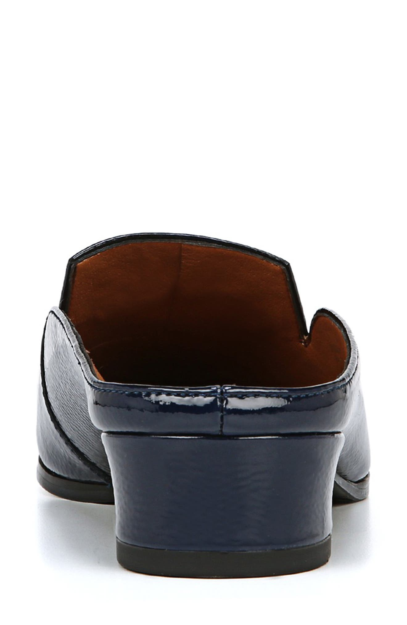 Nevan Mule,                             Alternate thumbnail 7, color,                             COBALT NAVY CRINKLE PATENT