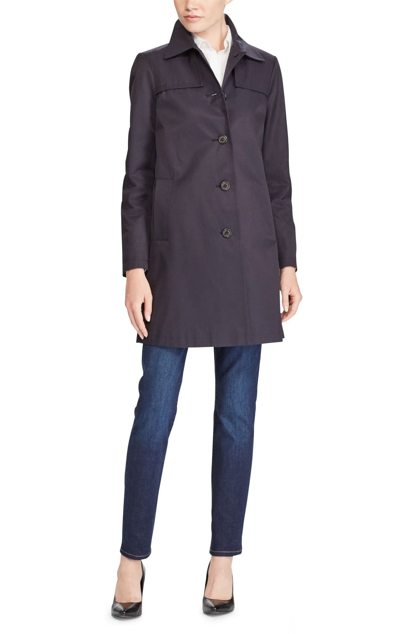 A-Line Trench Coat,                             Alternate thumbnail 9, color,