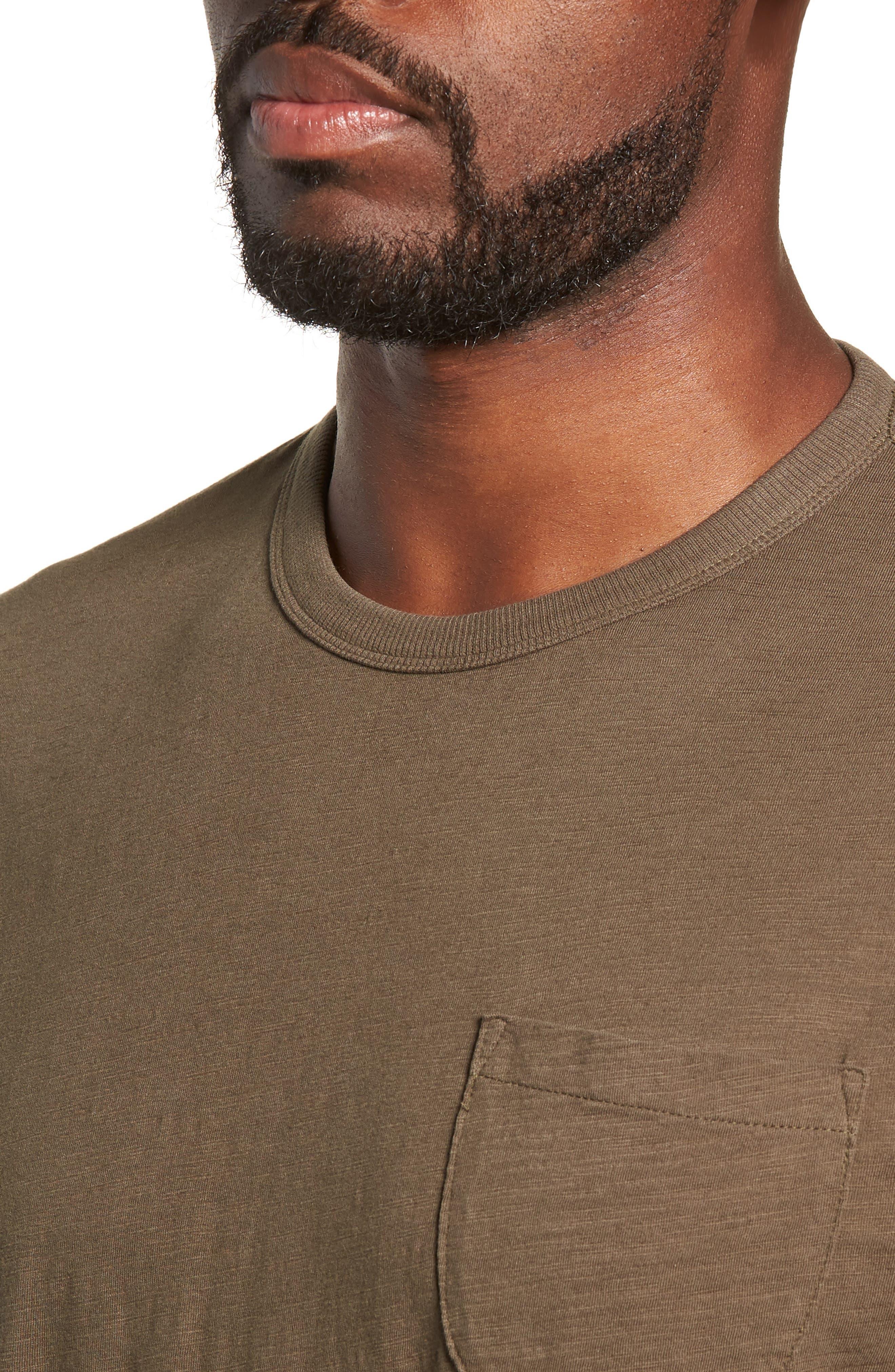 Slubbed Pocket T-Shirt,                             Alternate thumbnail 4, color,                             GREEN