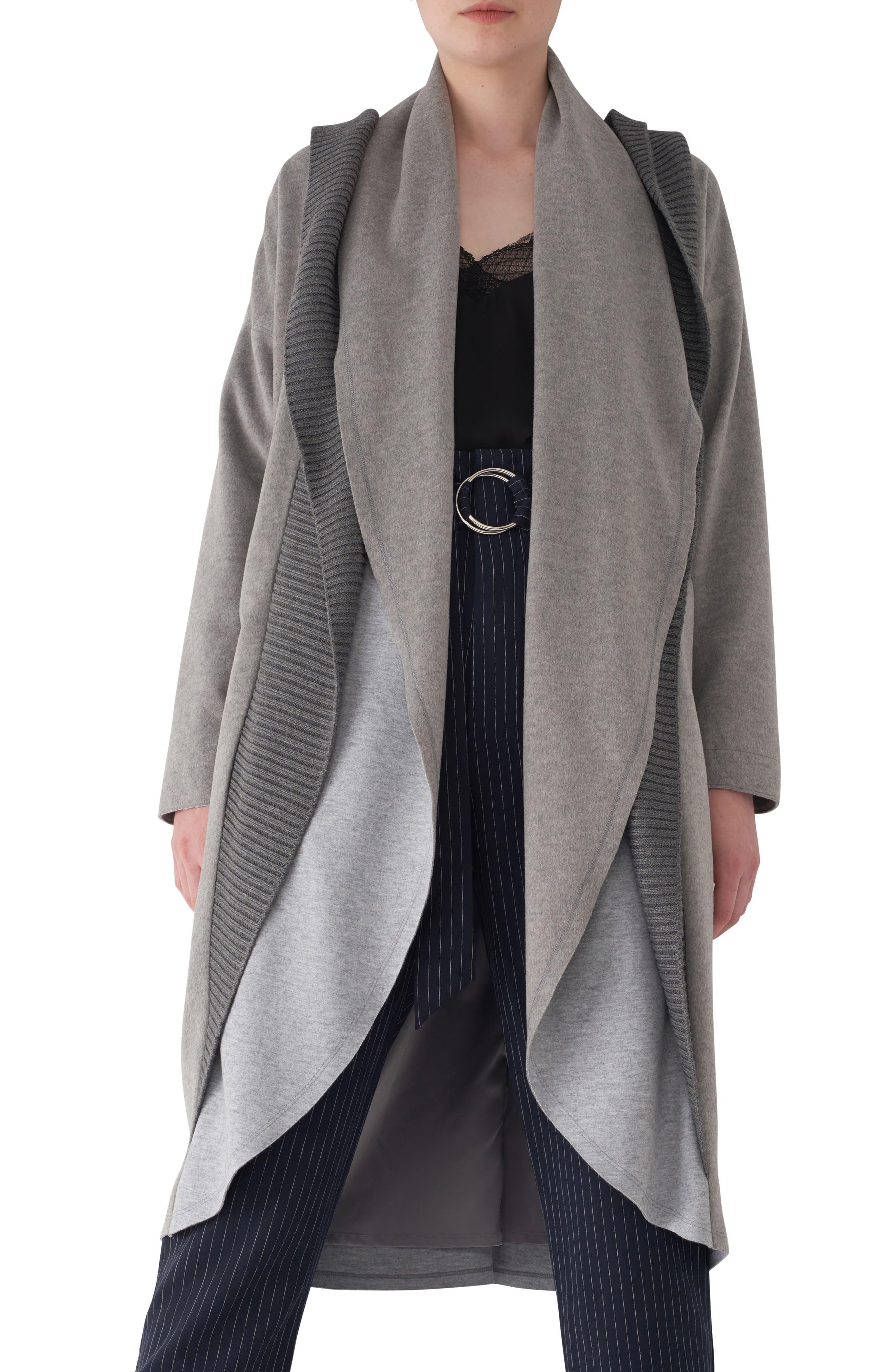 Brandy Stone Grey Duster Coat,                             Main thumbnail 1, color,                             GREY