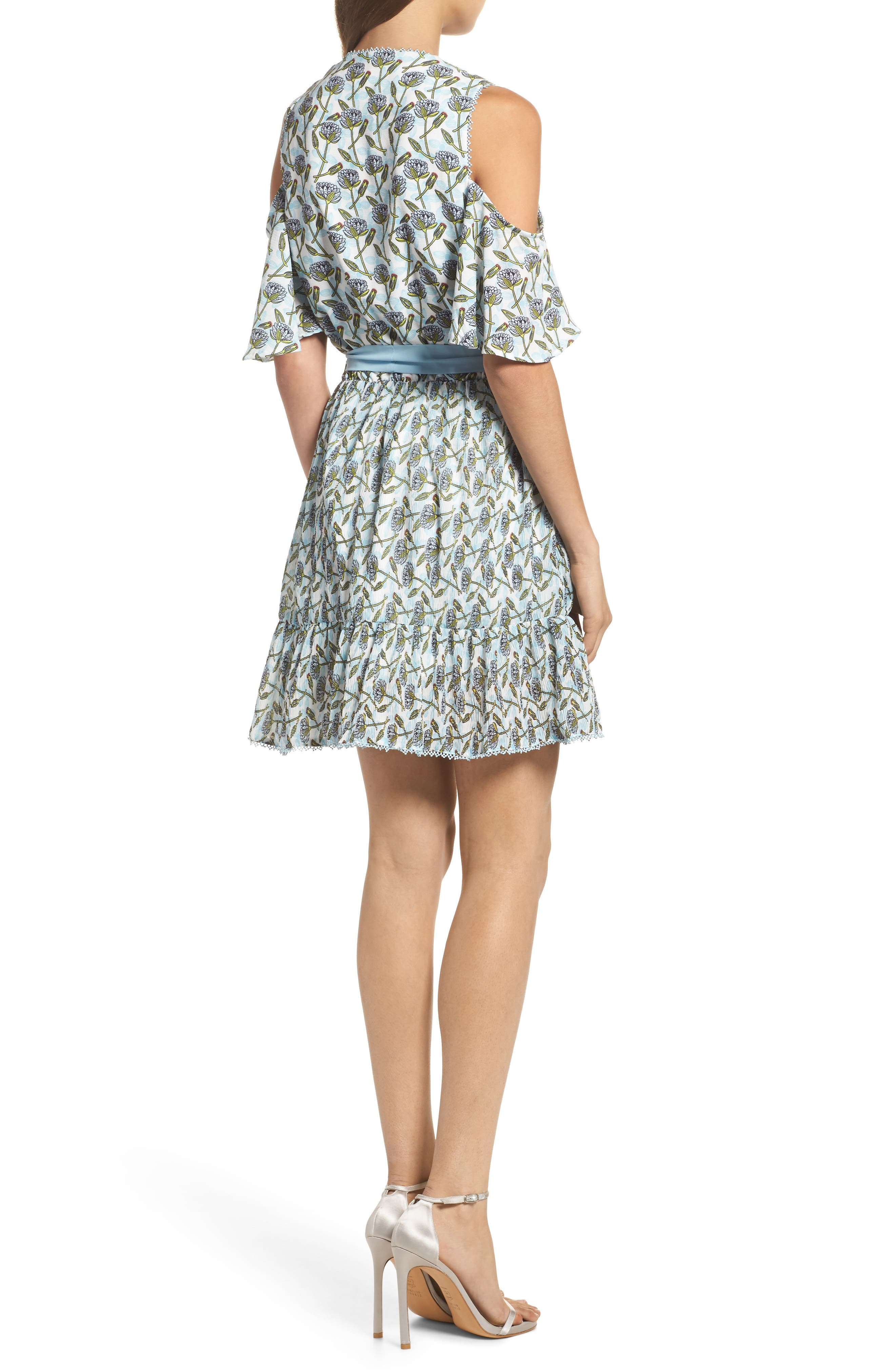 Lexie Cold Shoulder Wrap Dress,                             Alternate thumbnail 2, color,                             400