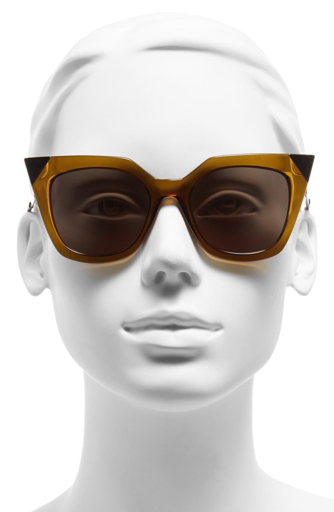 52mm Cat Eye Sunglasses,                             Alternate thumbnail 12, color,