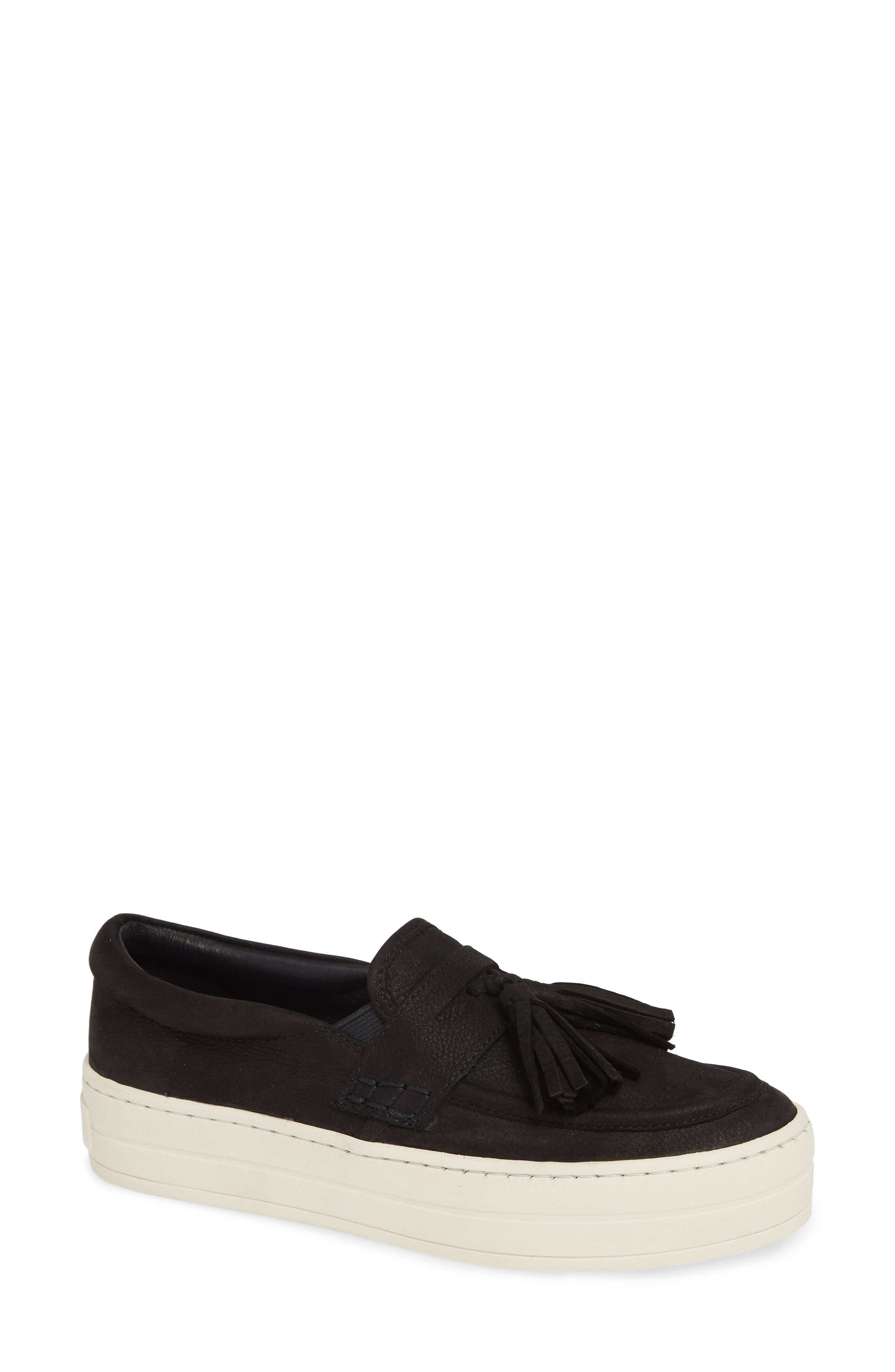 JSLIDES Hallie Slip-On Sneaker in Black Nubuck