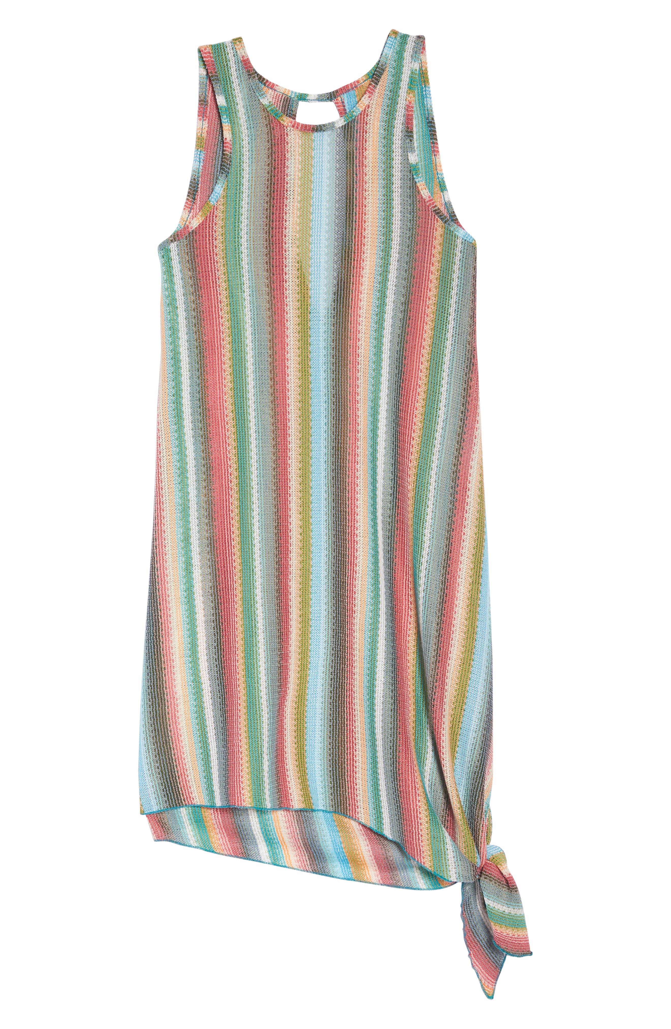 Seville Stripe Cover-Up Dress,                             Alternate thumbnail 6, color,                             800