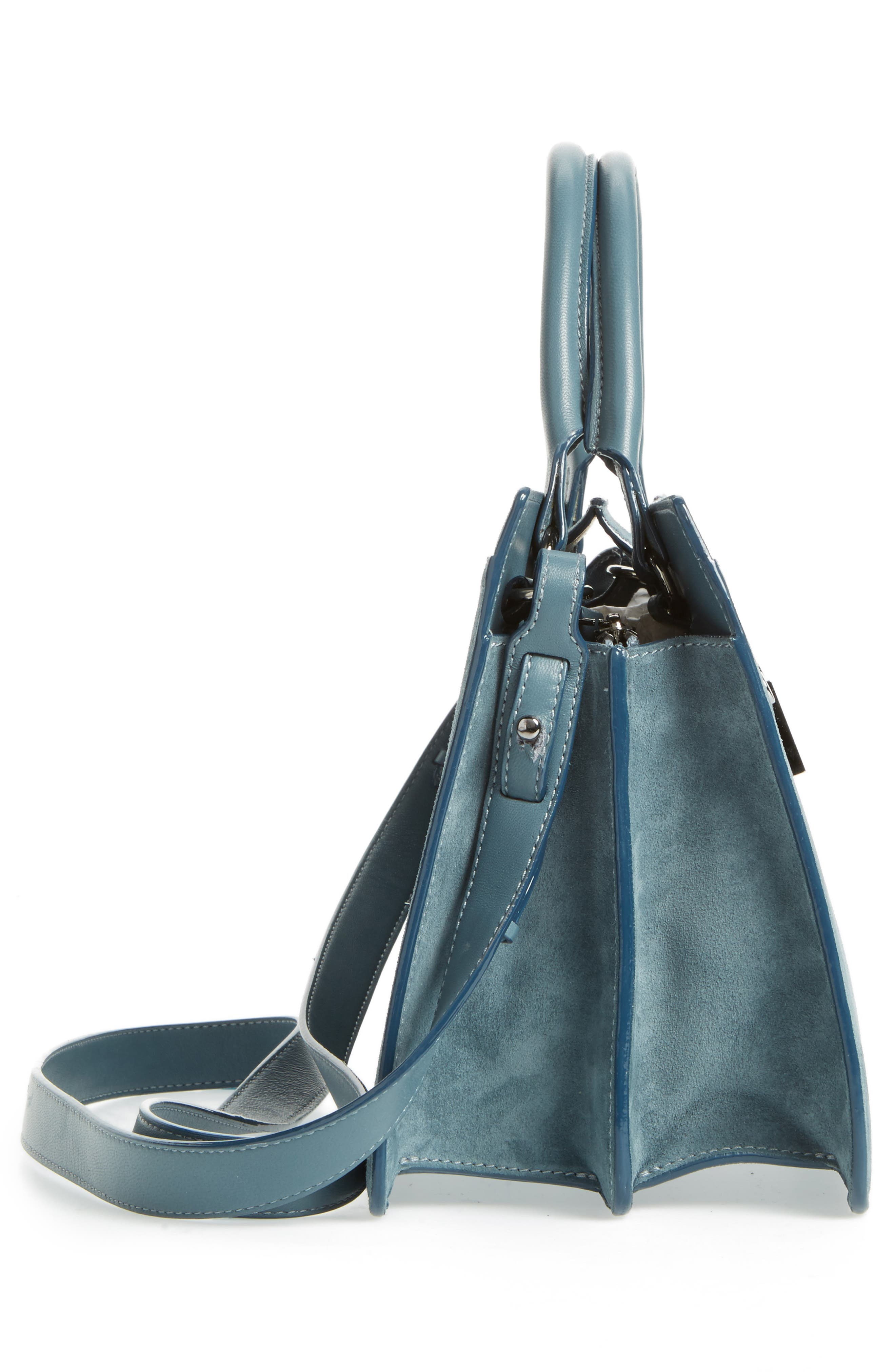 Small Rebel Suede Tote,                             Alternate thumbnail 5, color,                             420