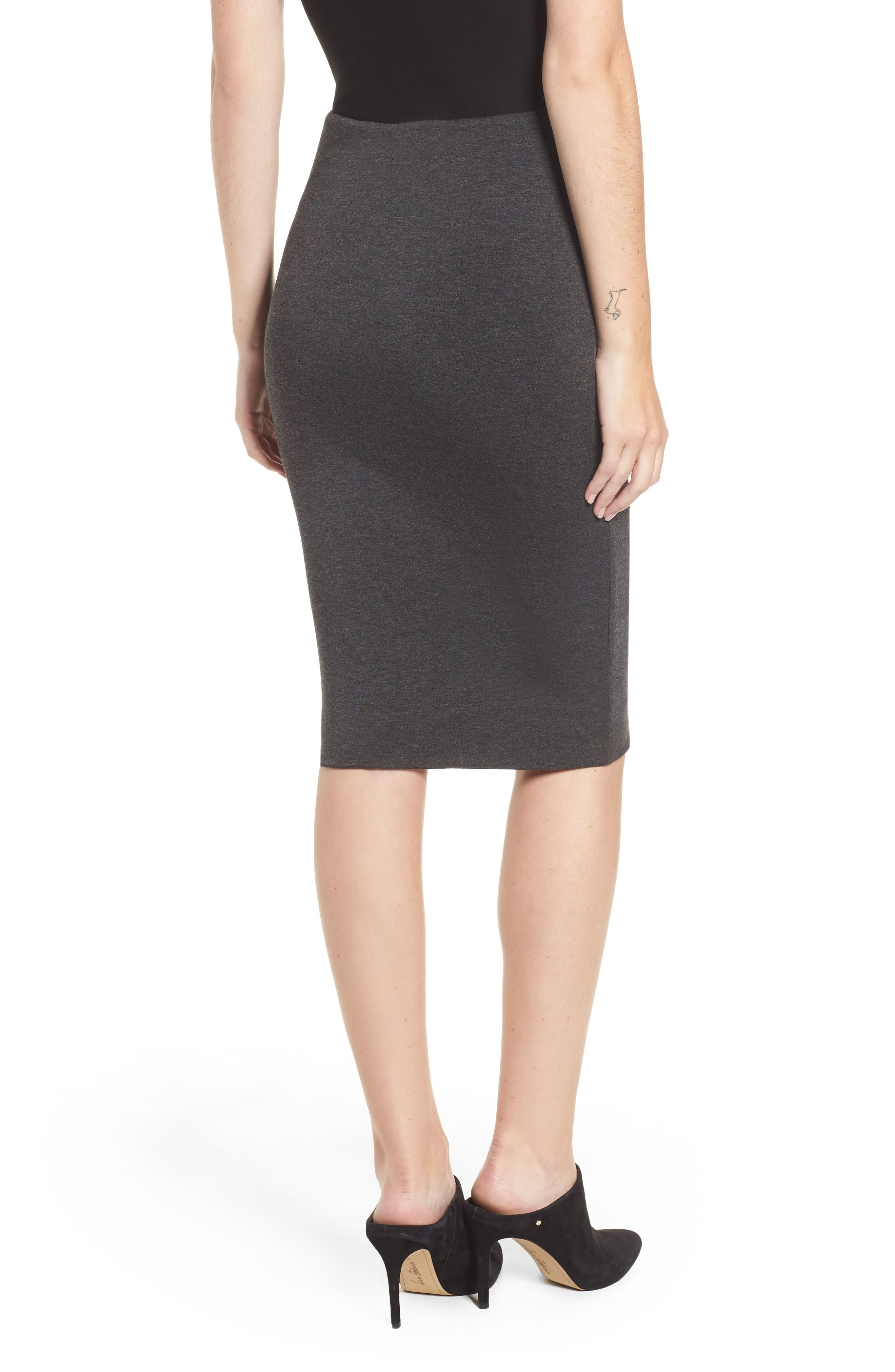 AMOUR VERT,                             'Yuma' Stretch Knit Skirt,                             Alternate thumbnail 2, color,                             ANTHRACITE
